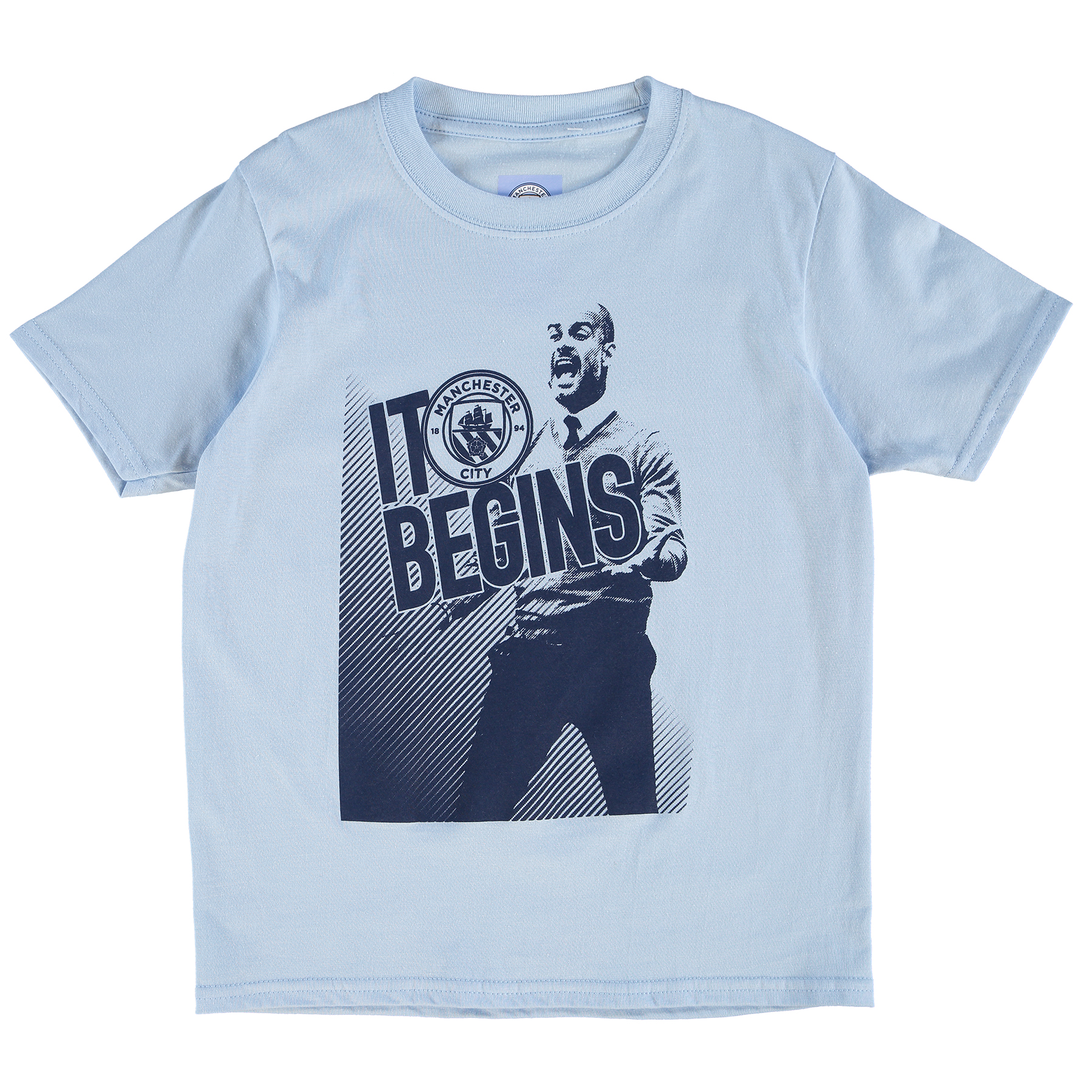 Manchester City Pep T-Shirt - Sky - Junior