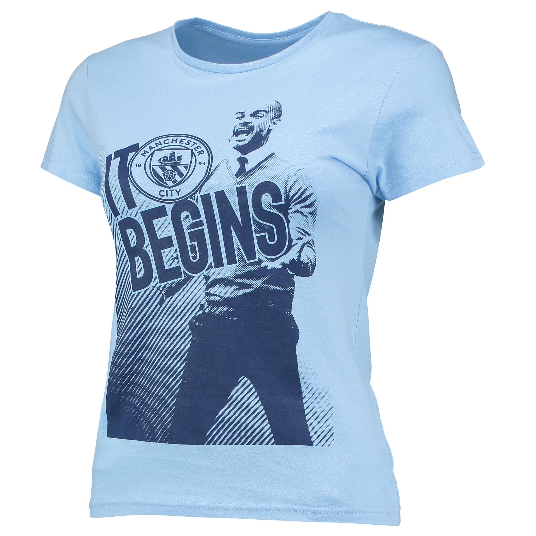 Manchester City Pep T-Shirt - Sky - Womens