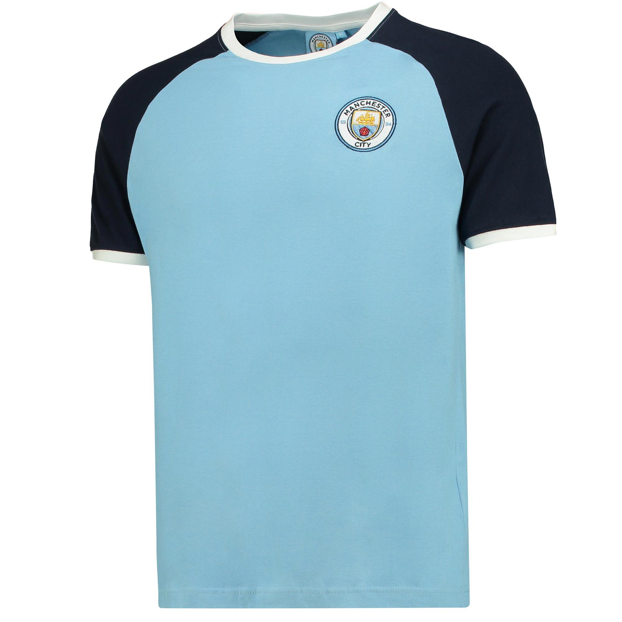 Manchester City Raglan T-Shirt - Sky