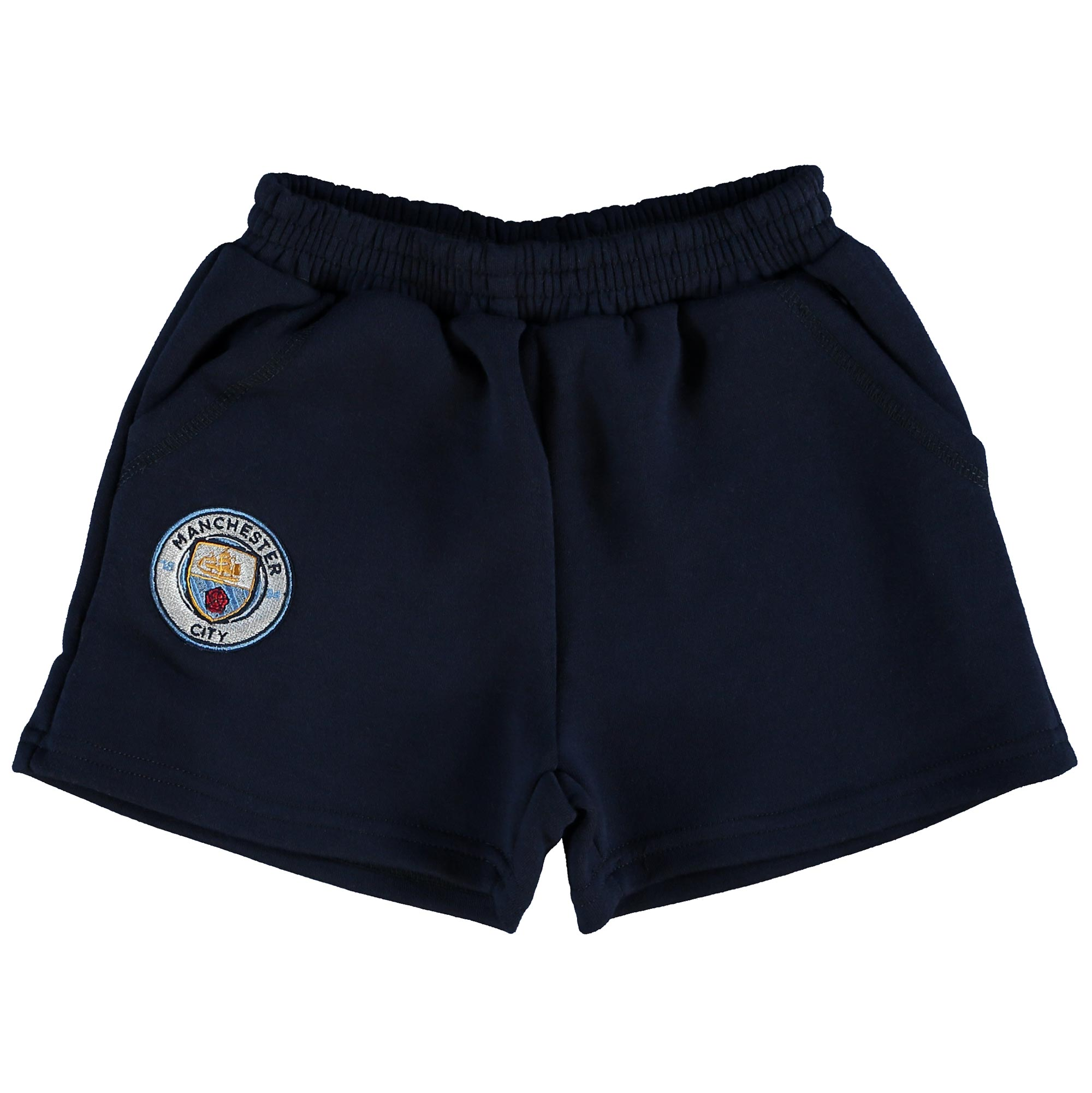 Manchester City Jog Shorts - Navy - Junior