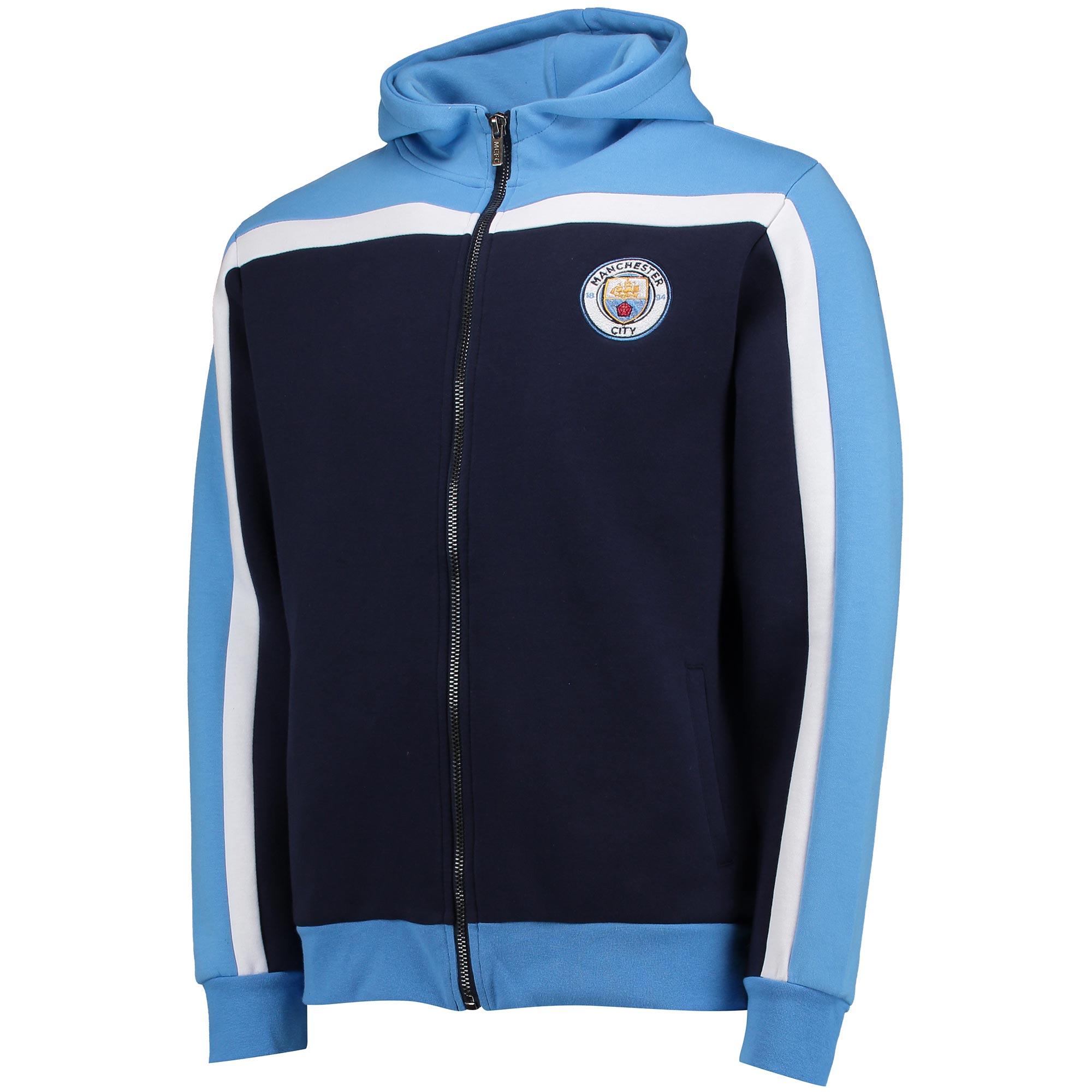 Manchester City Hoodie Full Zip - Navy