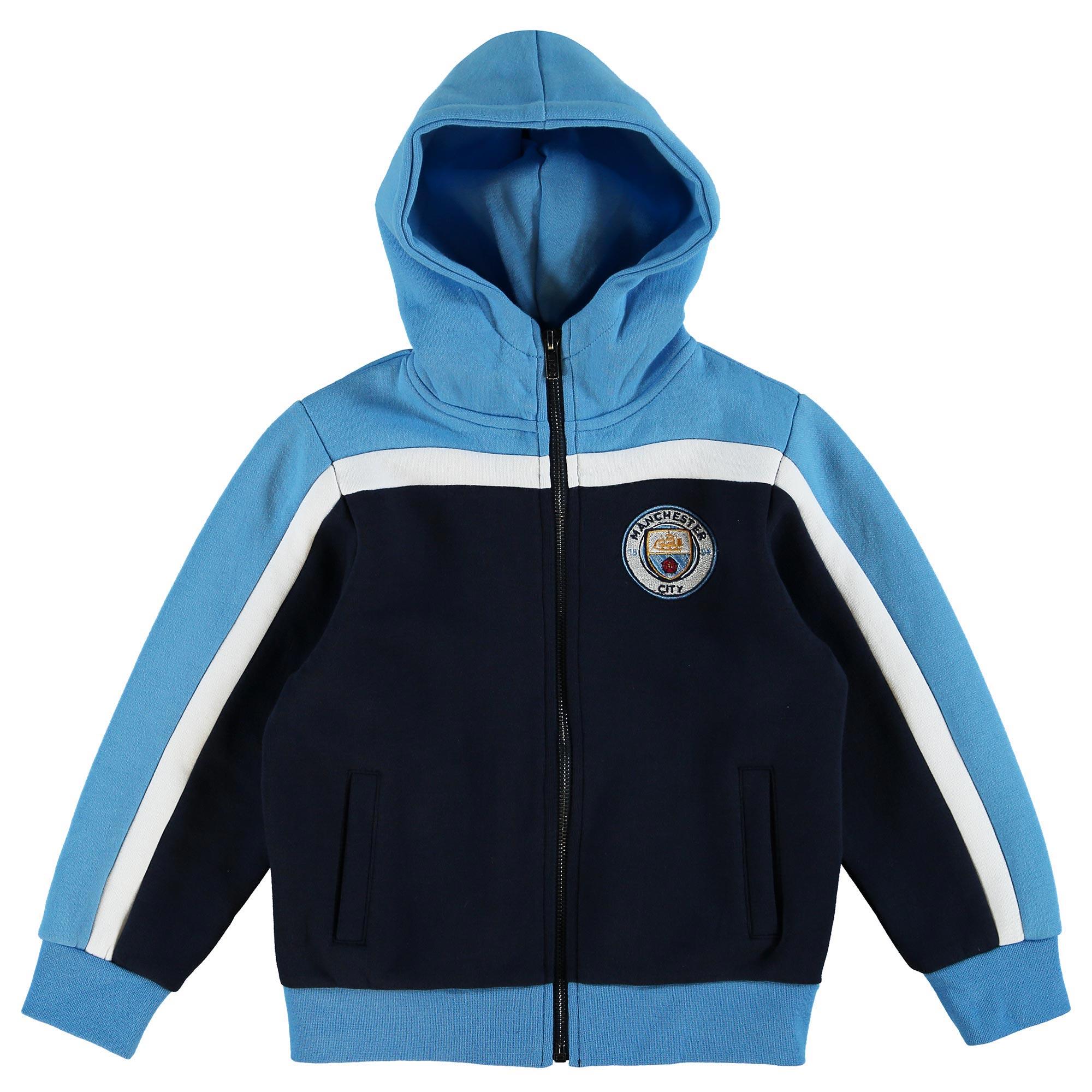 Manchester City Hoodie Full Zip - Navy - Junior
