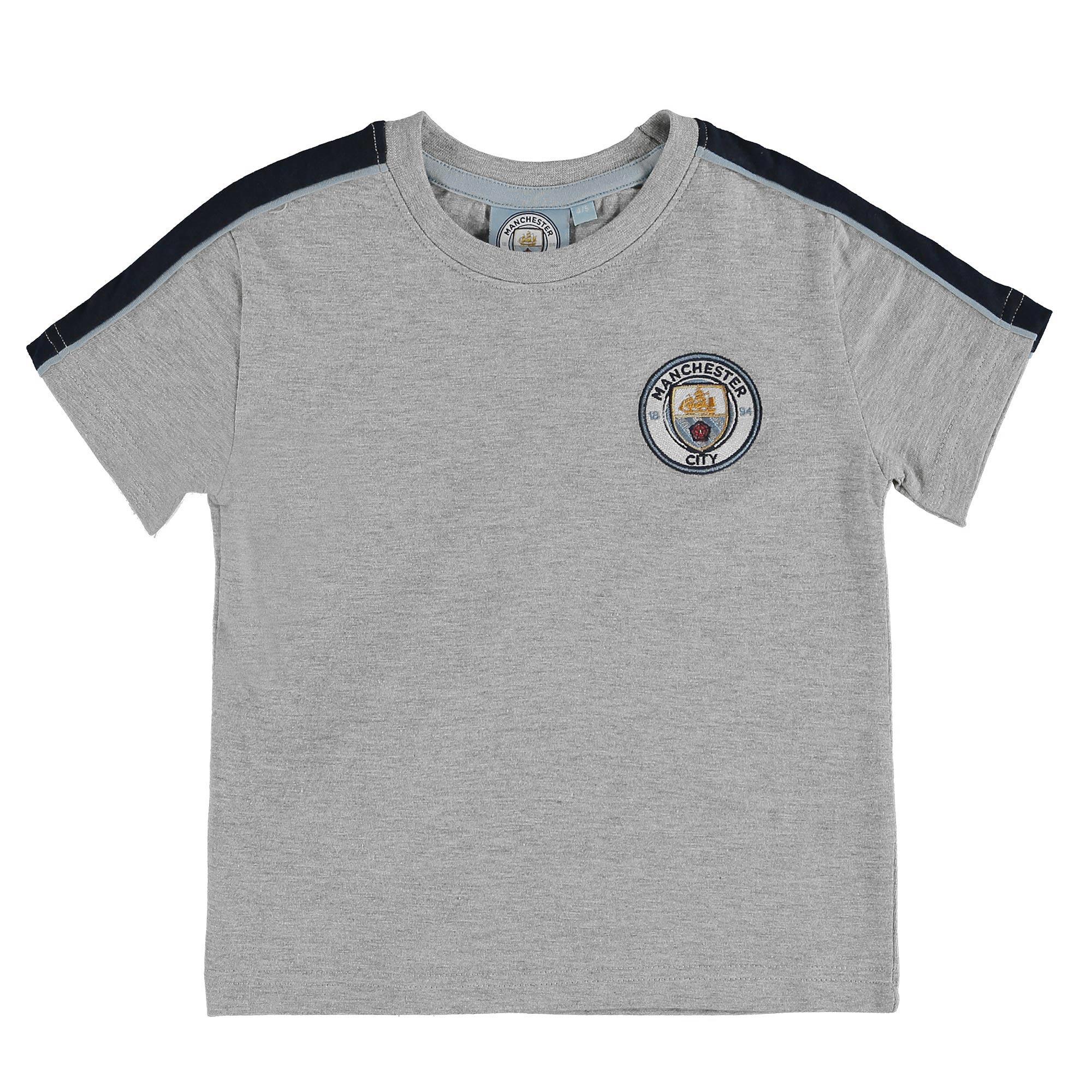 Manchester City T-Shirt - Grey Marl - Junior