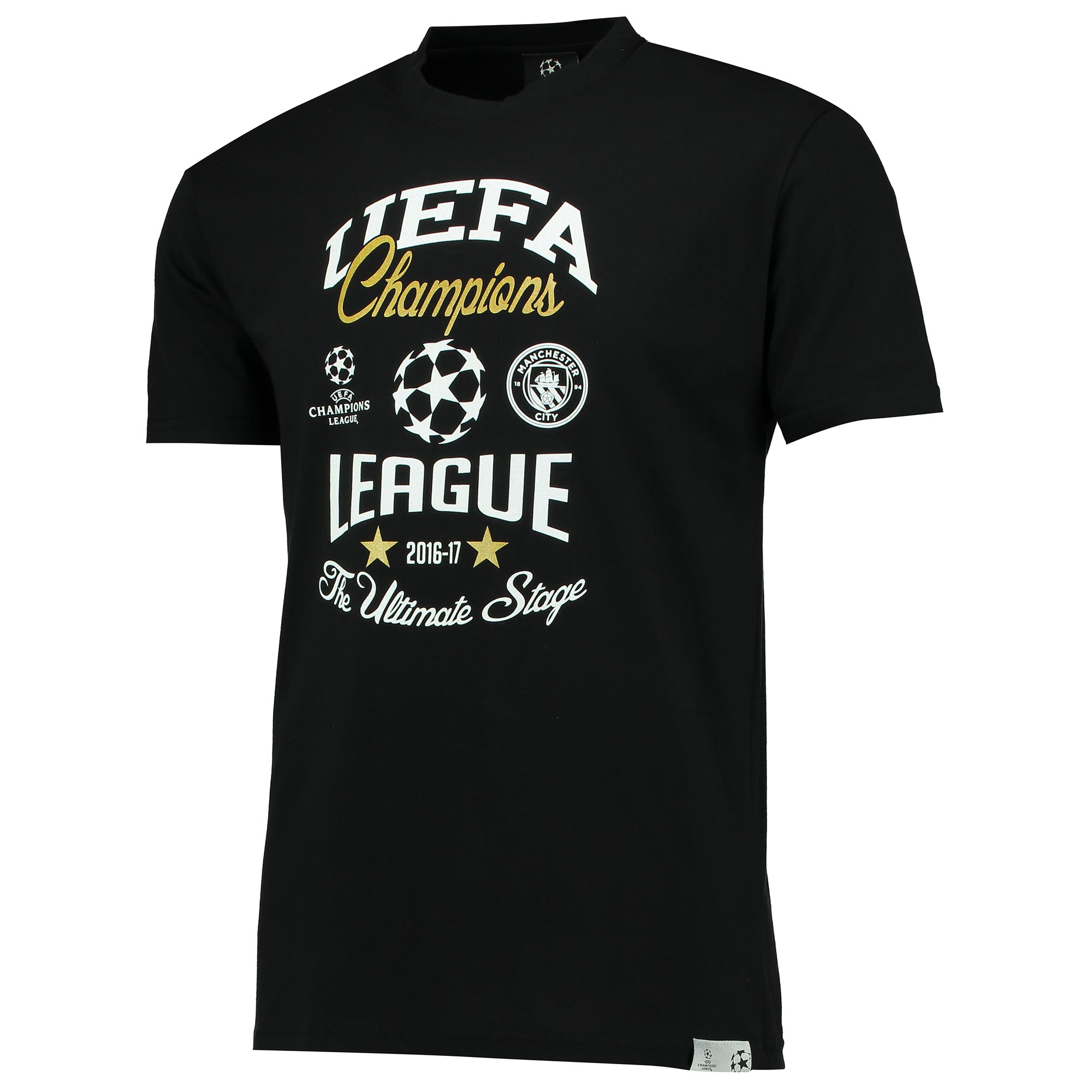 Manchester City UEFA T-Shirt - Black