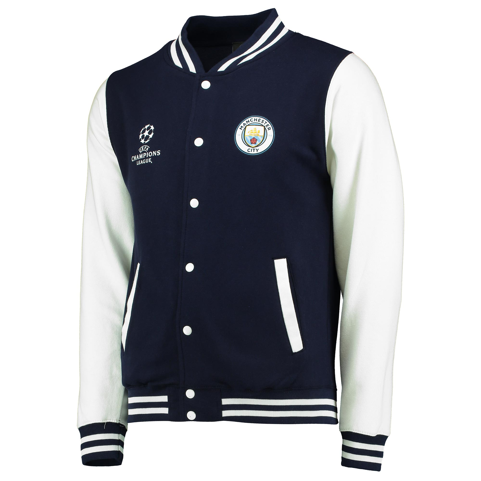 Manchester City UEFA Varsity Jacket - Navy