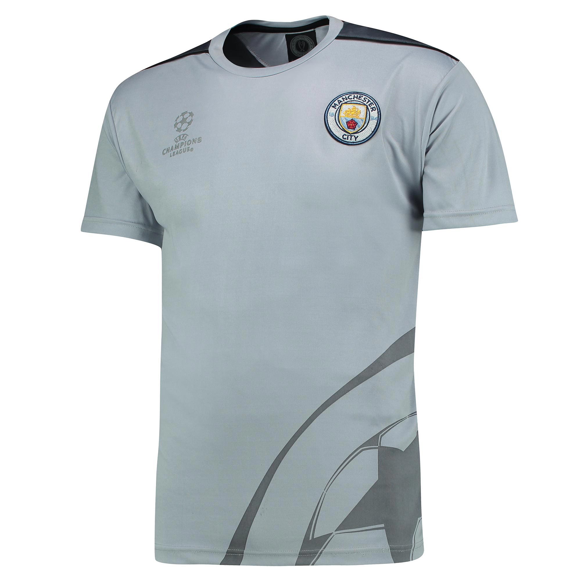 Manchester City UEFA Poly T-Shirt