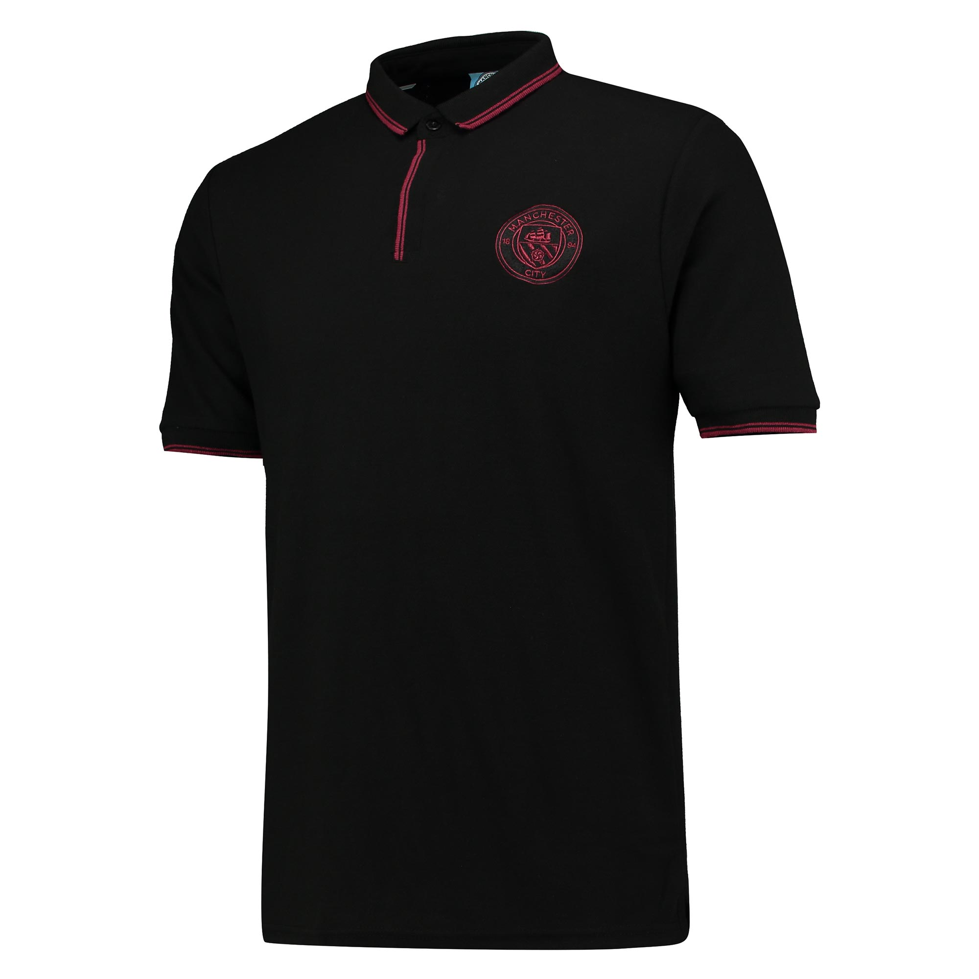 Manchester City Classic Slim Fit Polo Shirt - Black