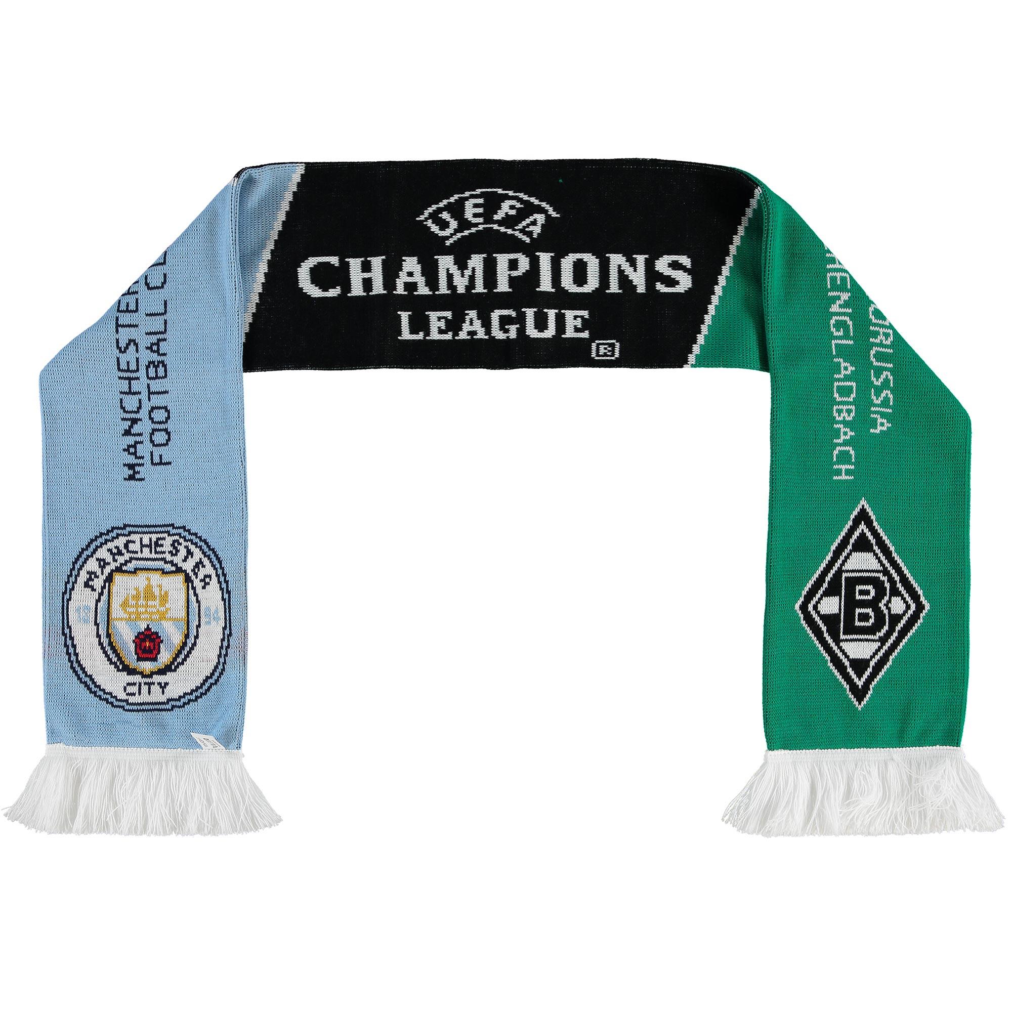 Manchester City UEFA Scarf vs Borussia Monchengladbach