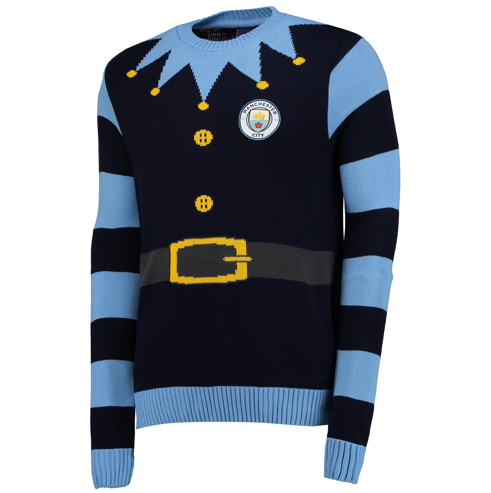Manchester City Elf Christmas Jumper - Navy - Junior