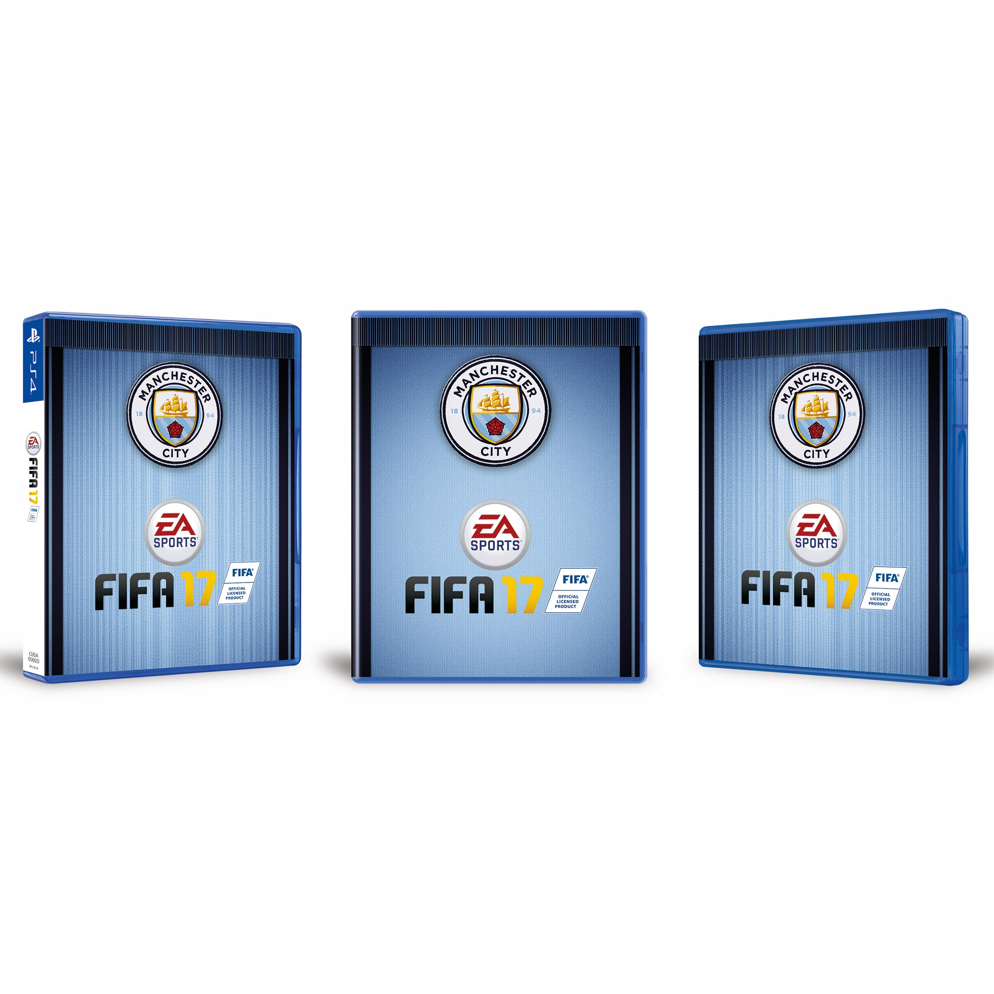 Manchester City FIFA 17 - Club Cover - PS4 Game