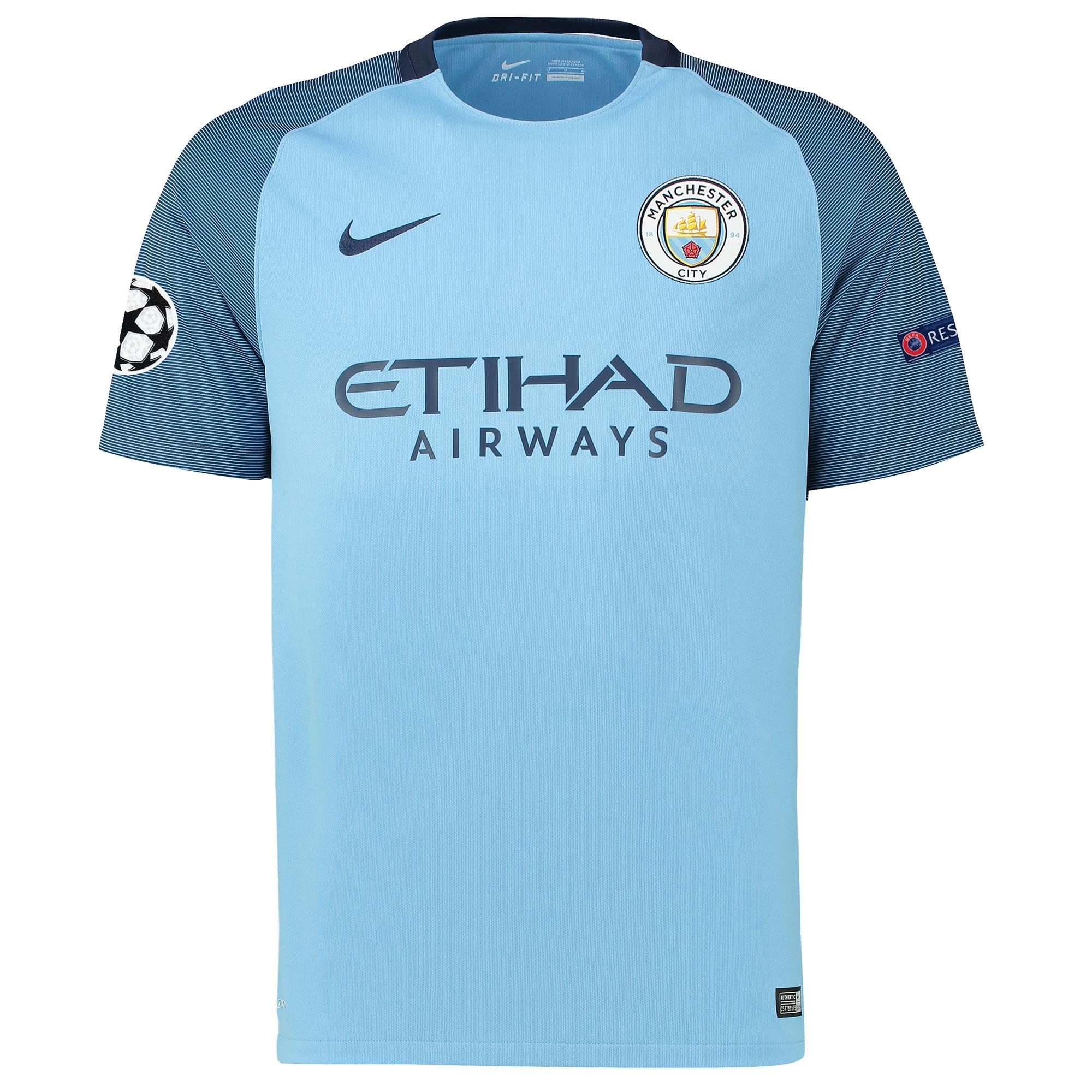 Manchester City UCL Home Stadium Shirt 2016-17