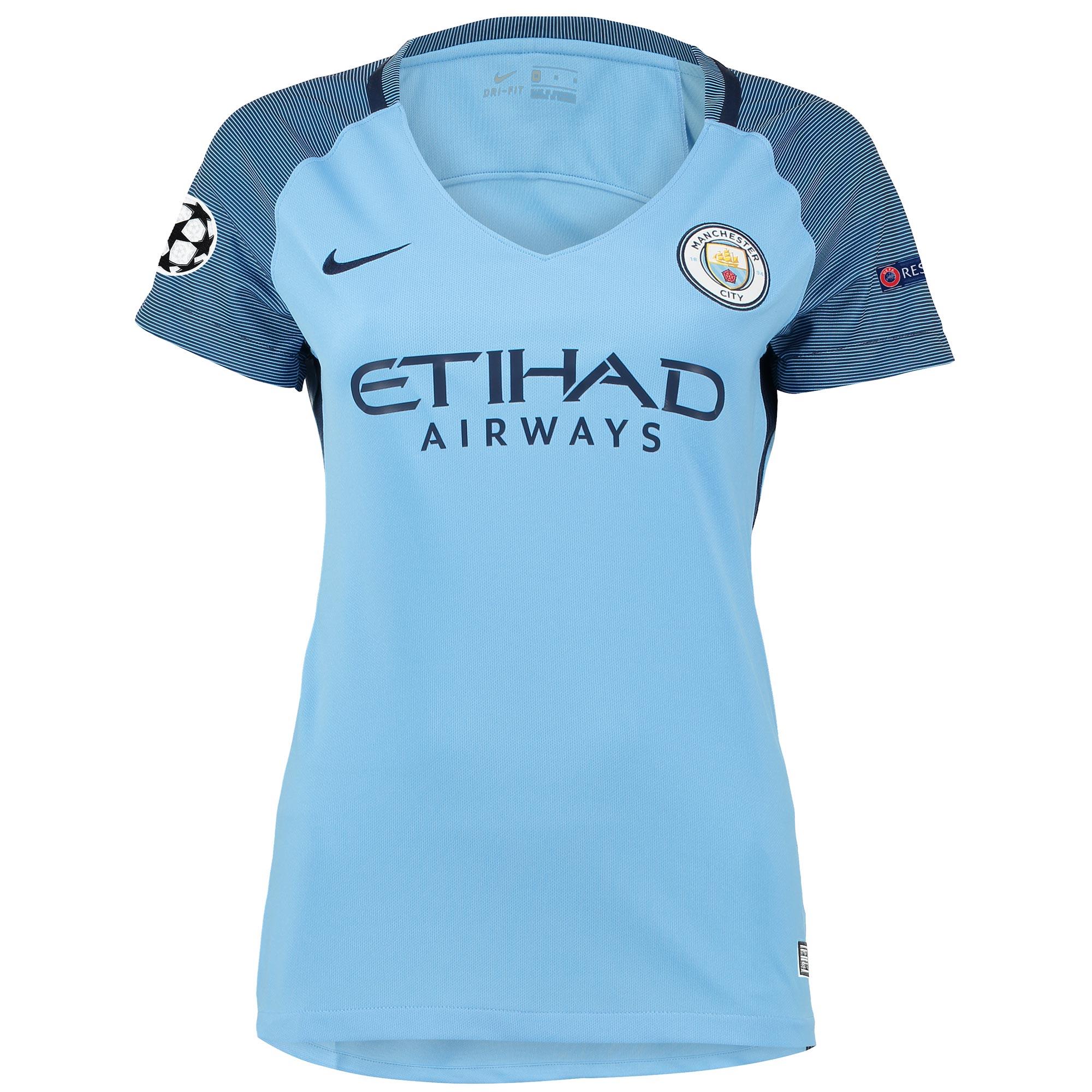 Manchester City UCL Home Stadium Shirt 2016-17 - Womens