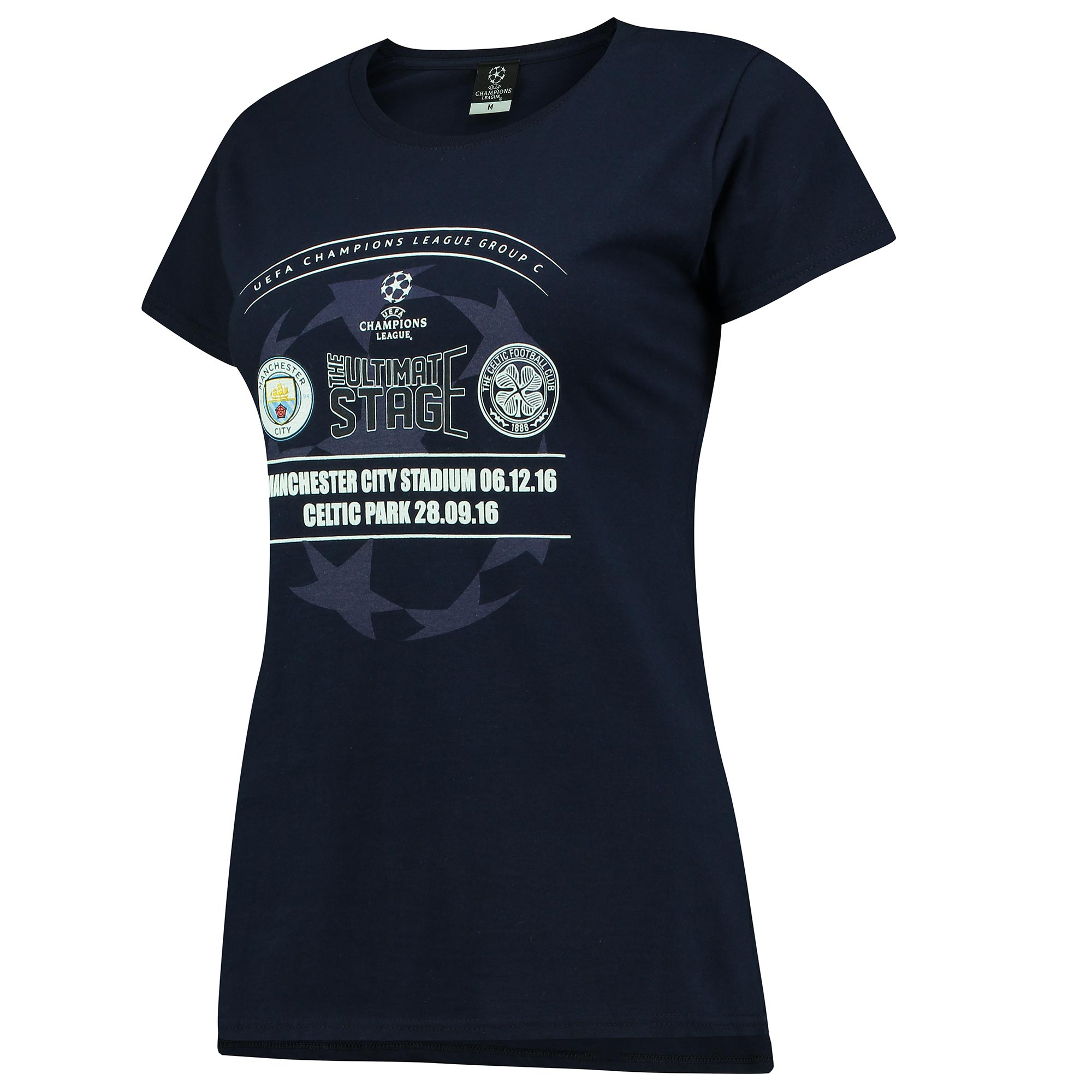 Manchester City vs Celtic T-Shirt - Navy - Womens