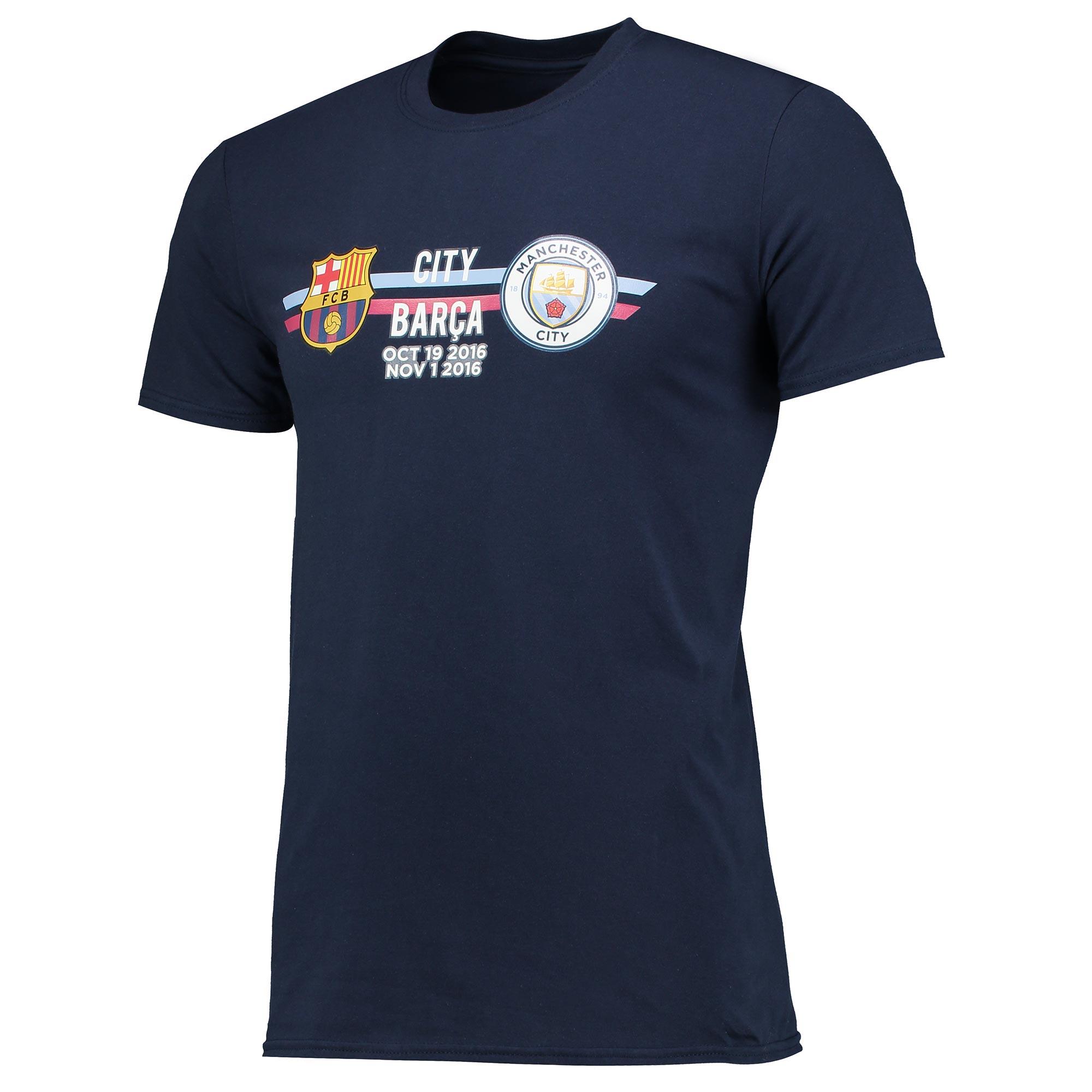 Manchester City vs Barcelona T-Shirt - Navy