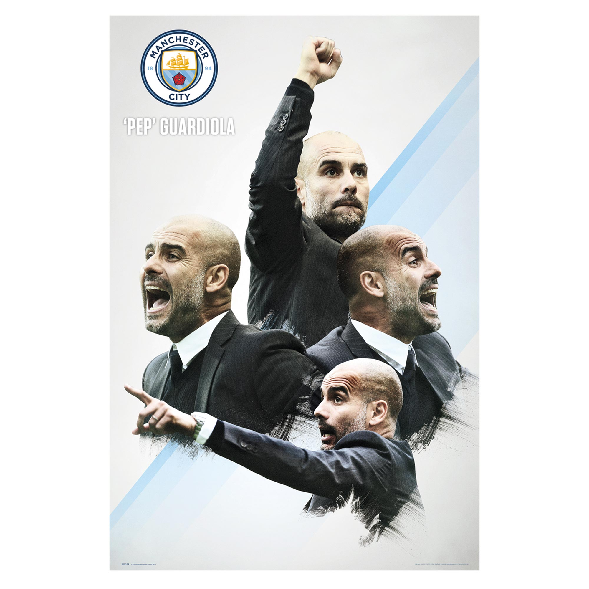 Manchester City Pep 2016/17 Poster