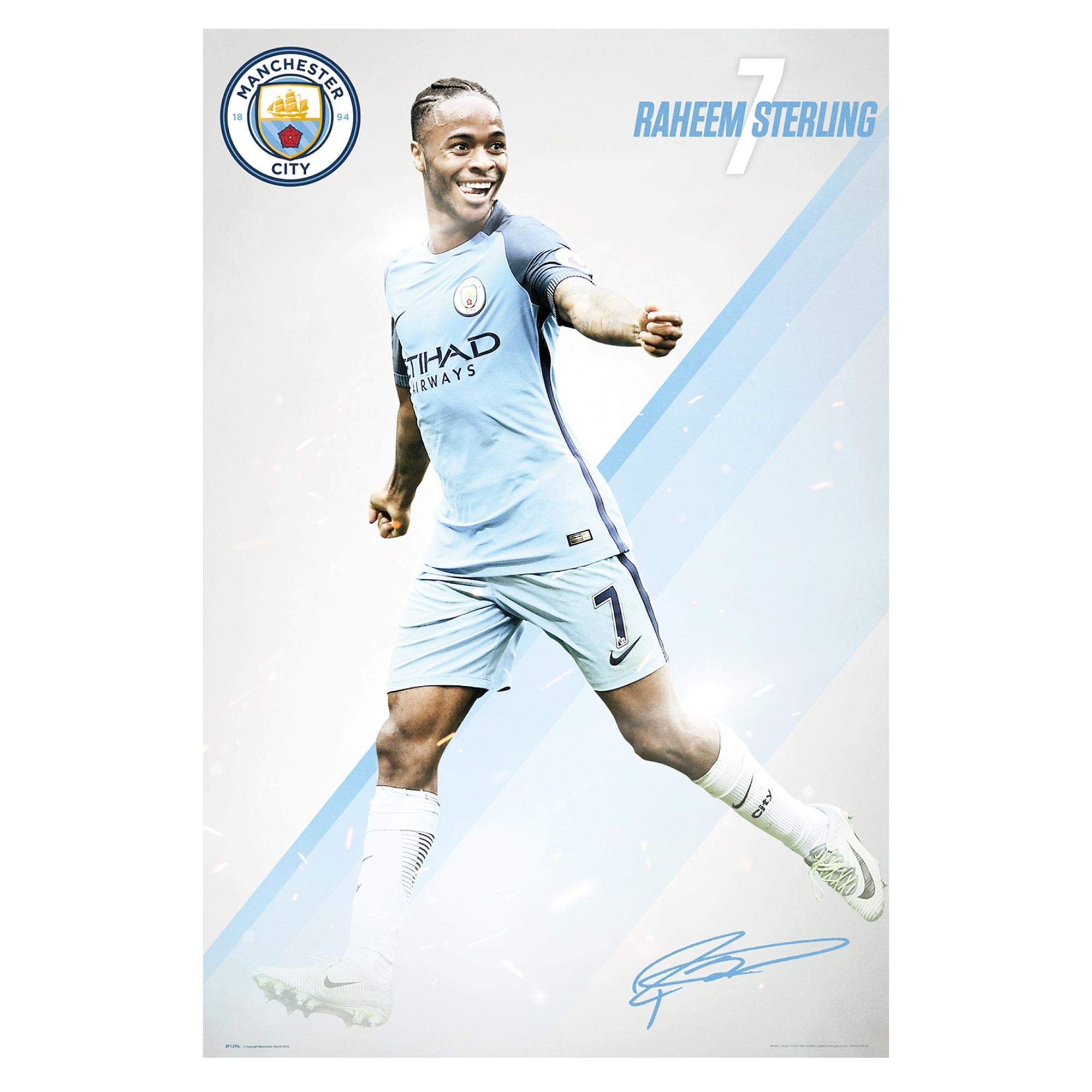 Manchester City Sterling 2016/17 Poster