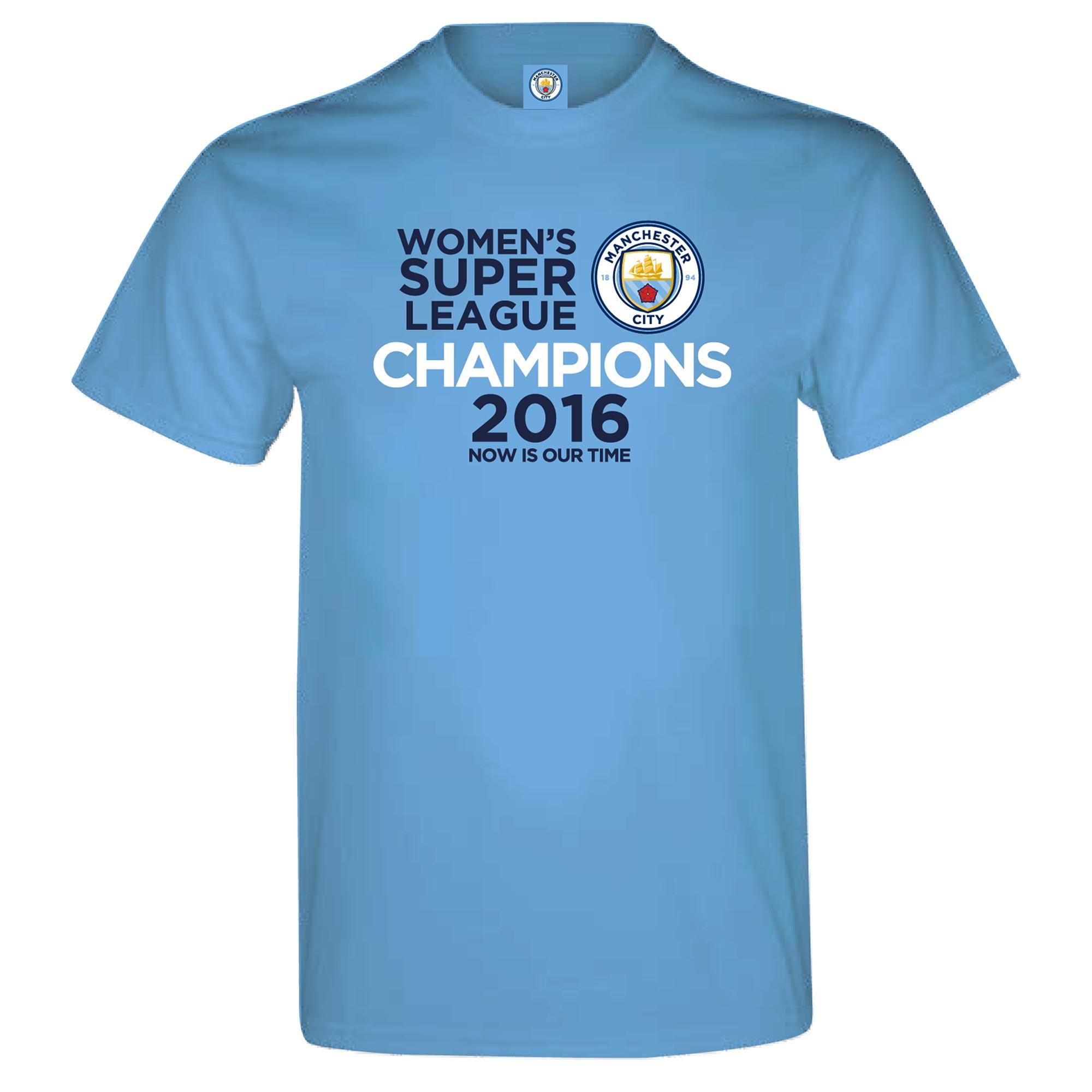 Manchester City FAWSL Champions T-Shirt
