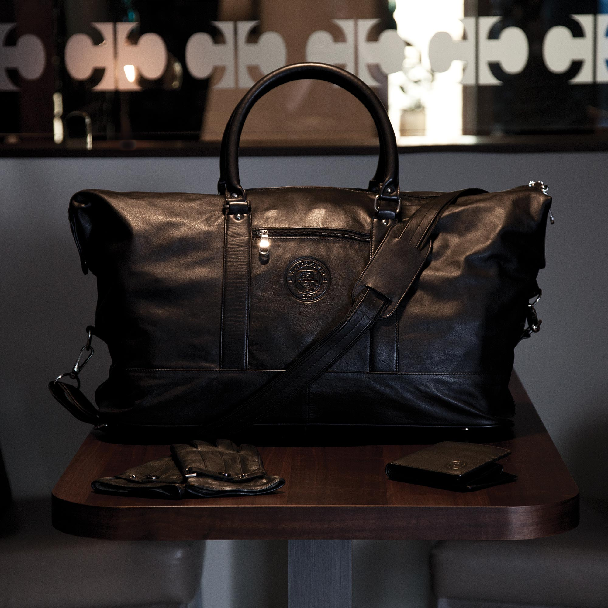 Manchester City 1894 Nappa Leather Travel Bag