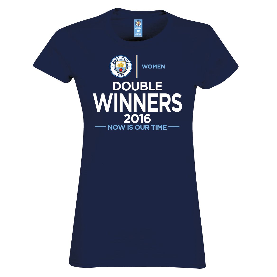 Manchester City Women Double Winners T-Shirt- Junior