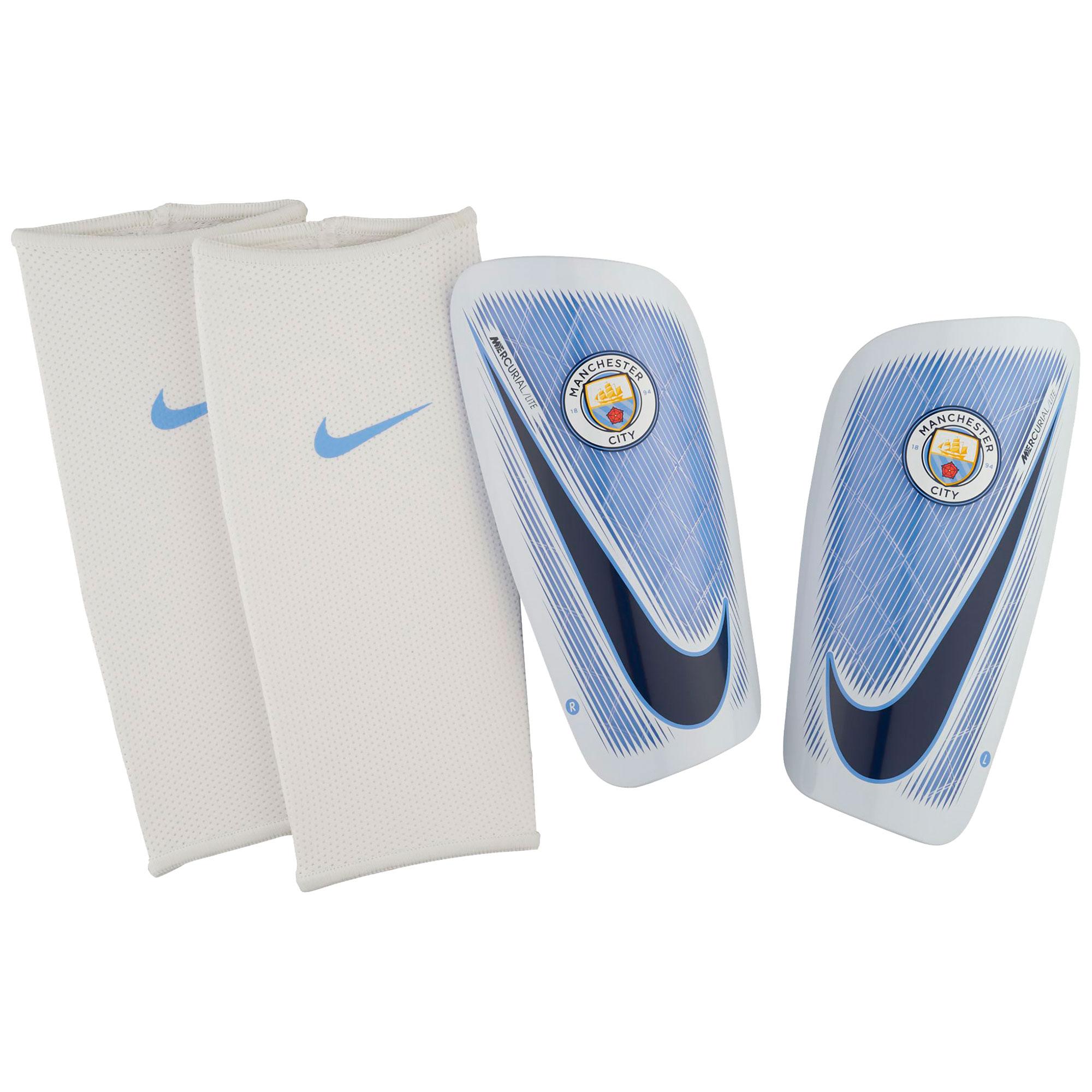 Manchester City Mercurial Lite Shinguards - Lt Blue