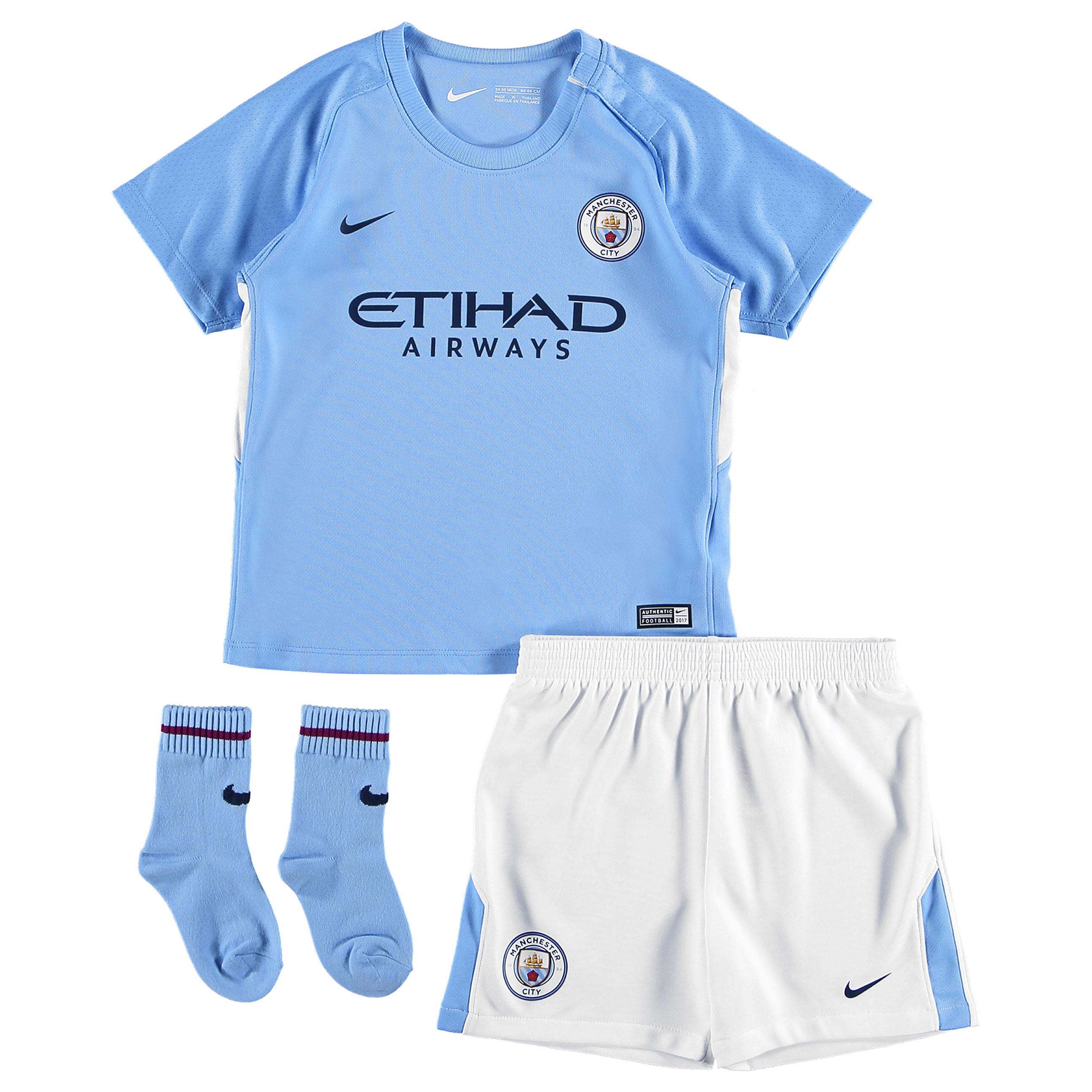 Manchester City Home Stadium Kit 2017-18 - Infants