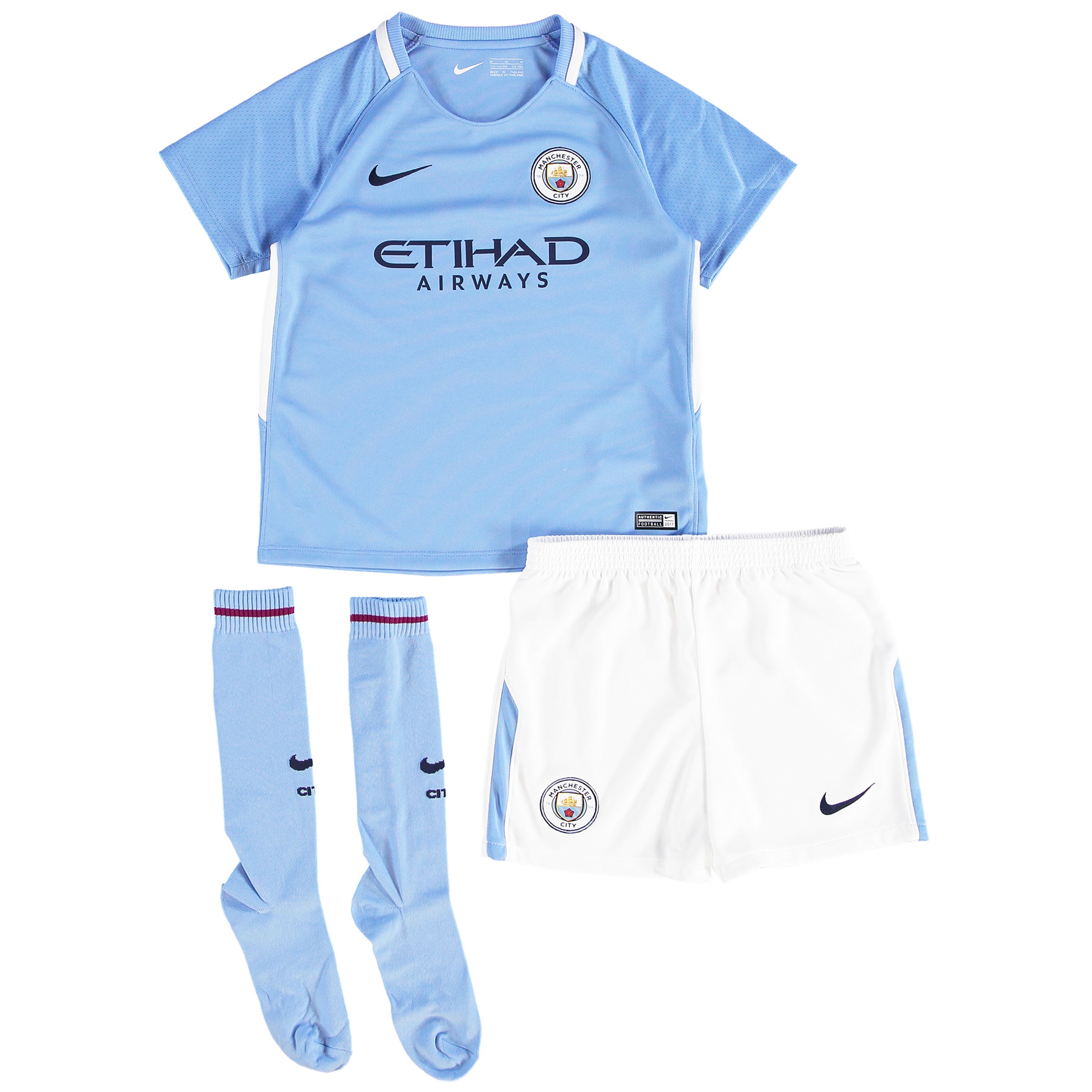 Manchester City Home Stadium Kit 2017-18 - Little Kids