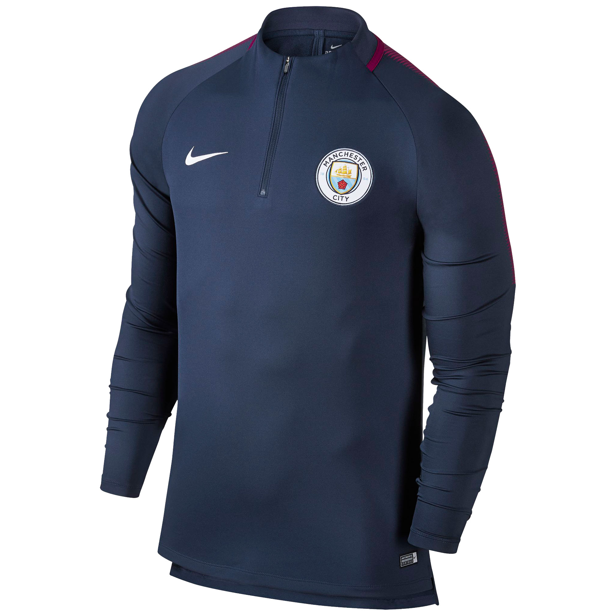 Manchester City Squad Drill Top - Navy