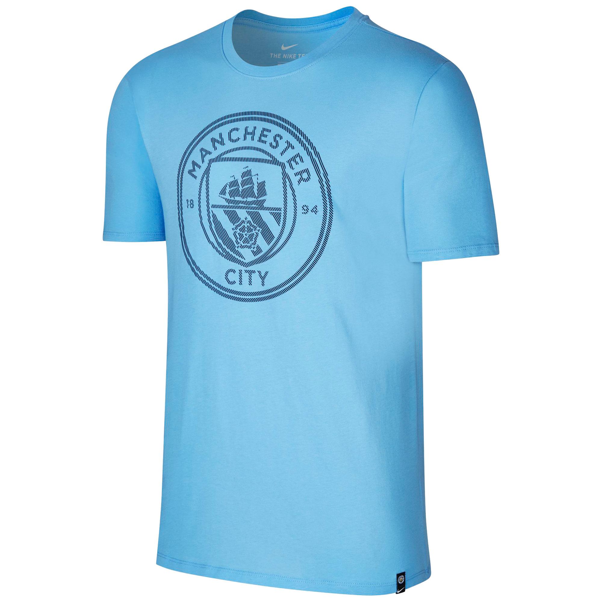 Manchester City Crest T-Shirt - Lt Blue - Kids