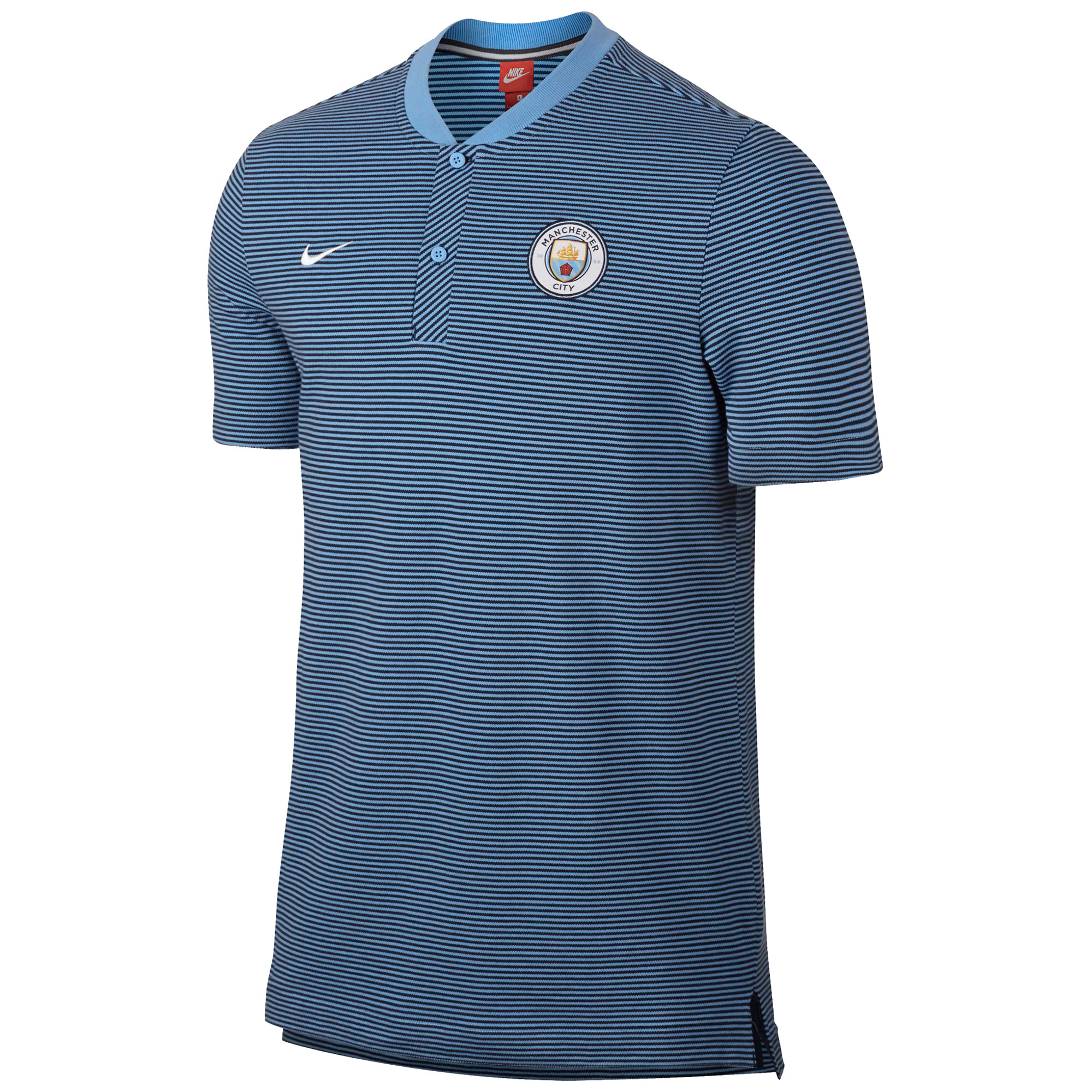 Manchester City Authentic Grand Slam Polo - Lt Blue