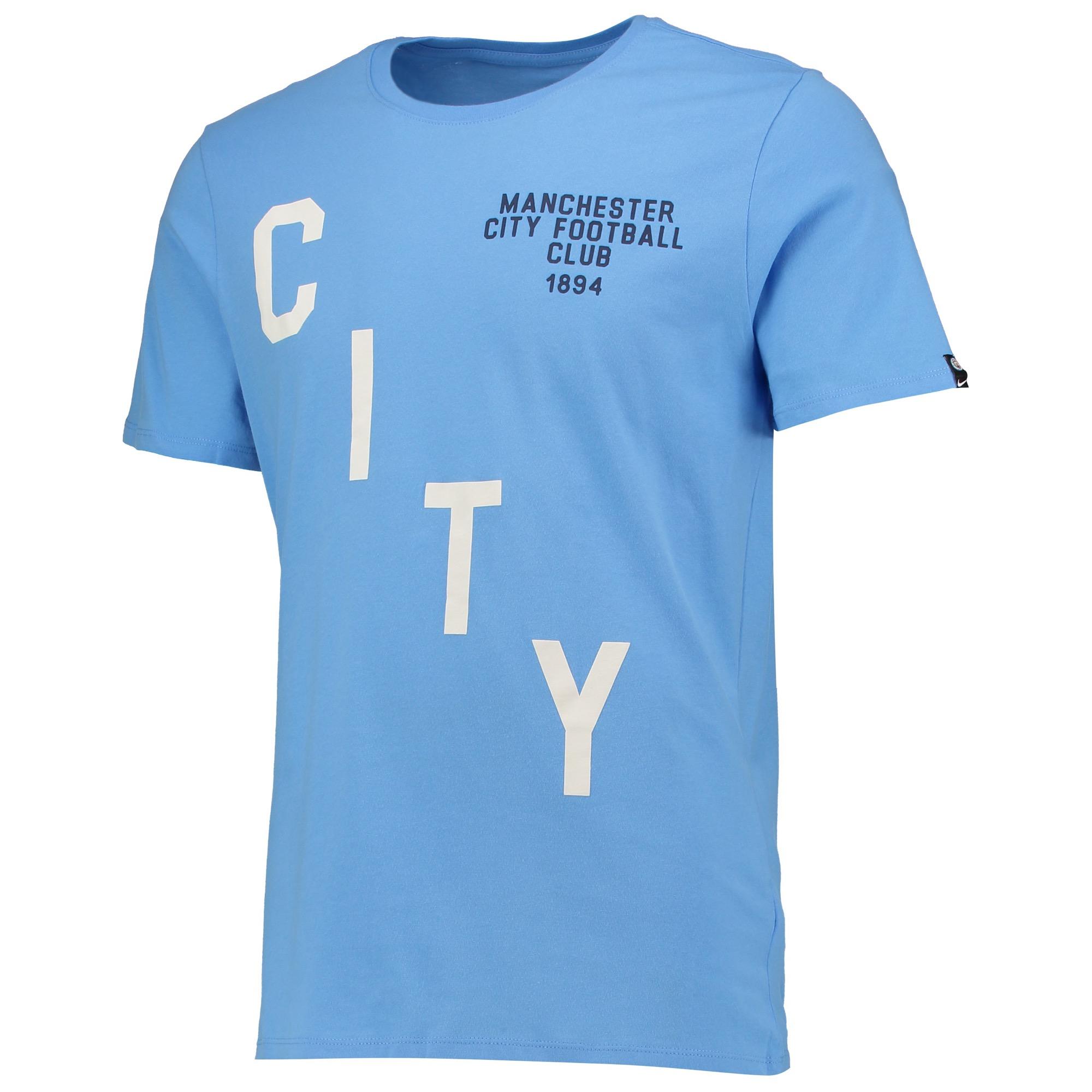 Manchester City Squad T-Shirt - Lt Blue