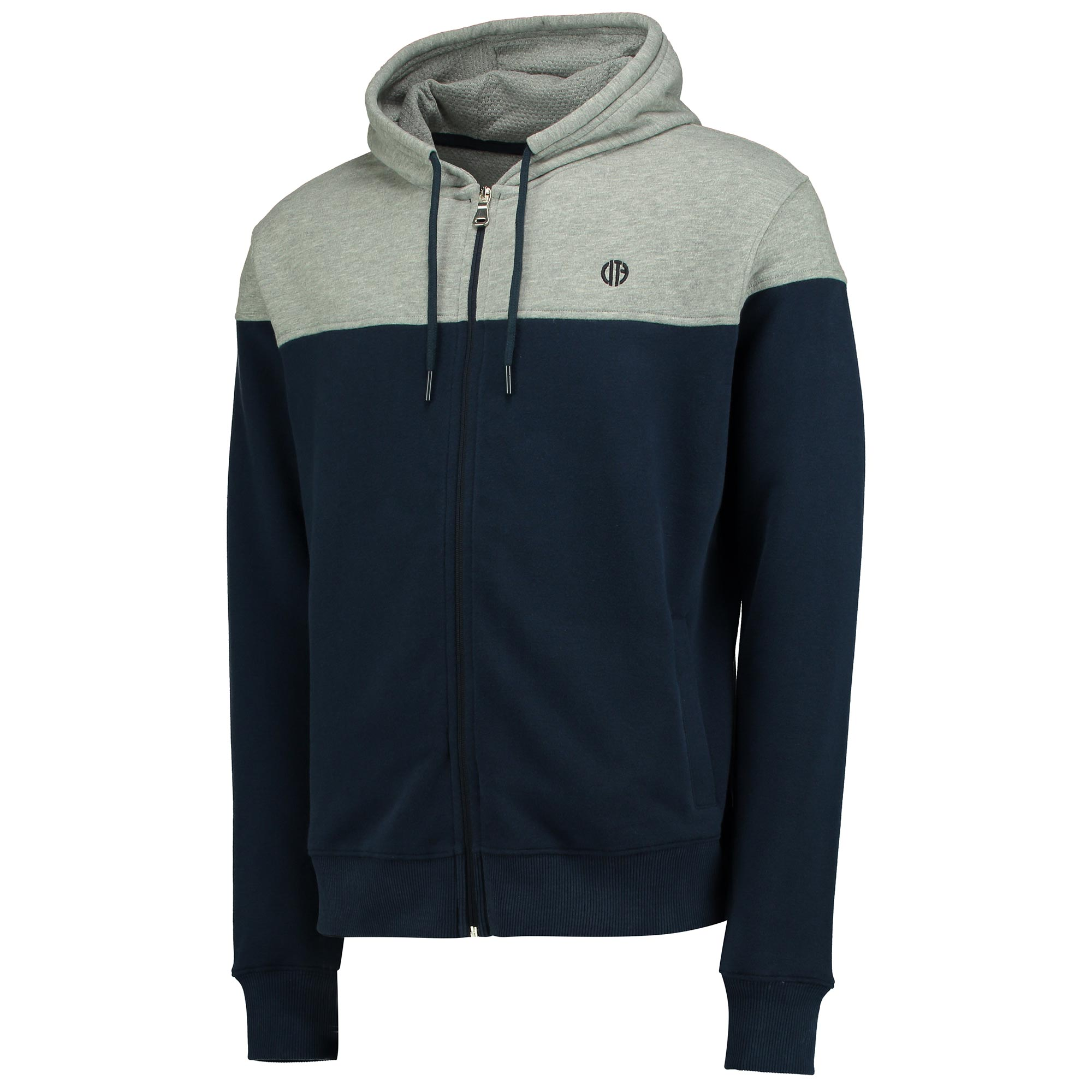 Manchester City Terrace Full Zip Hoodie - Navy/Grey Marl