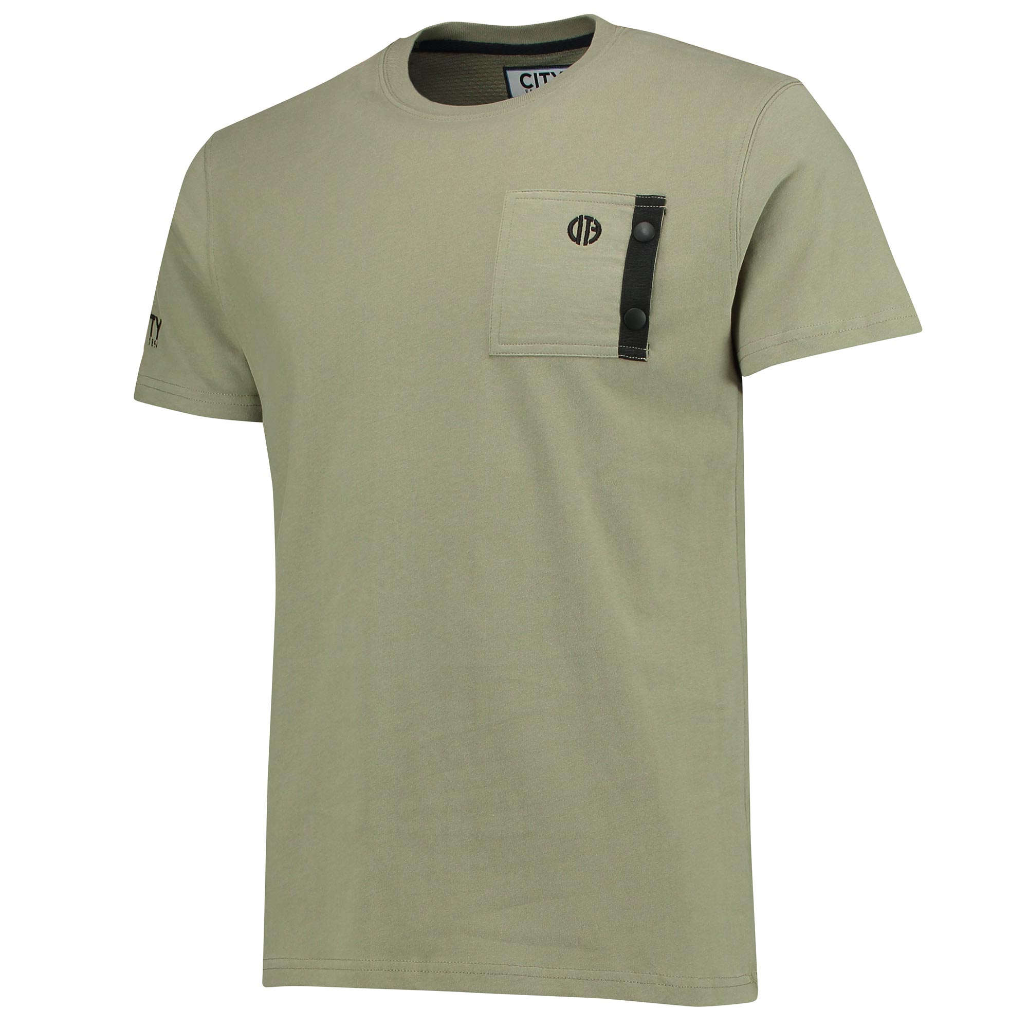 Manchester City Terrace Pocket T-Shirt - Olive