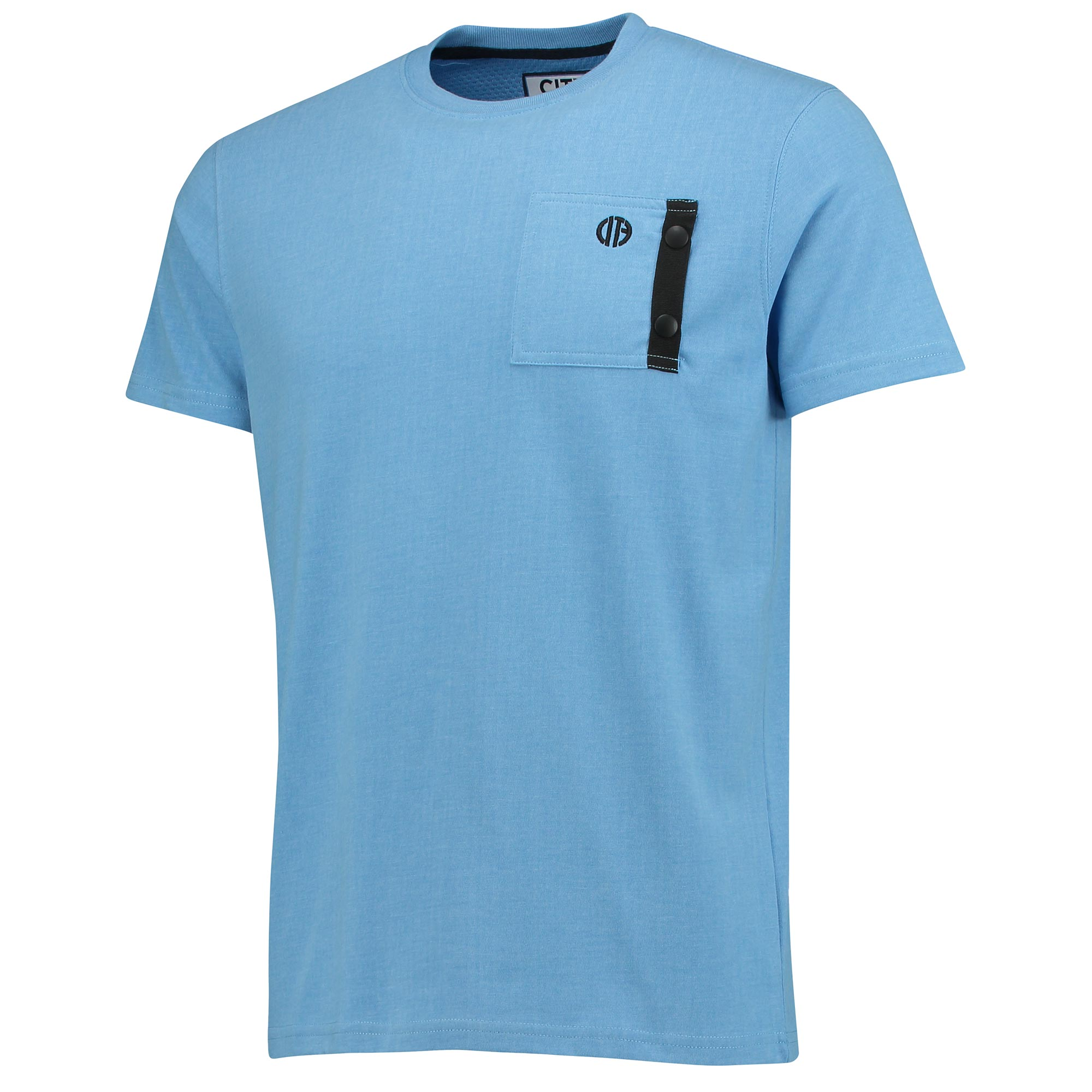 Manchester City Terrace Pocket T-Shirt - Sky