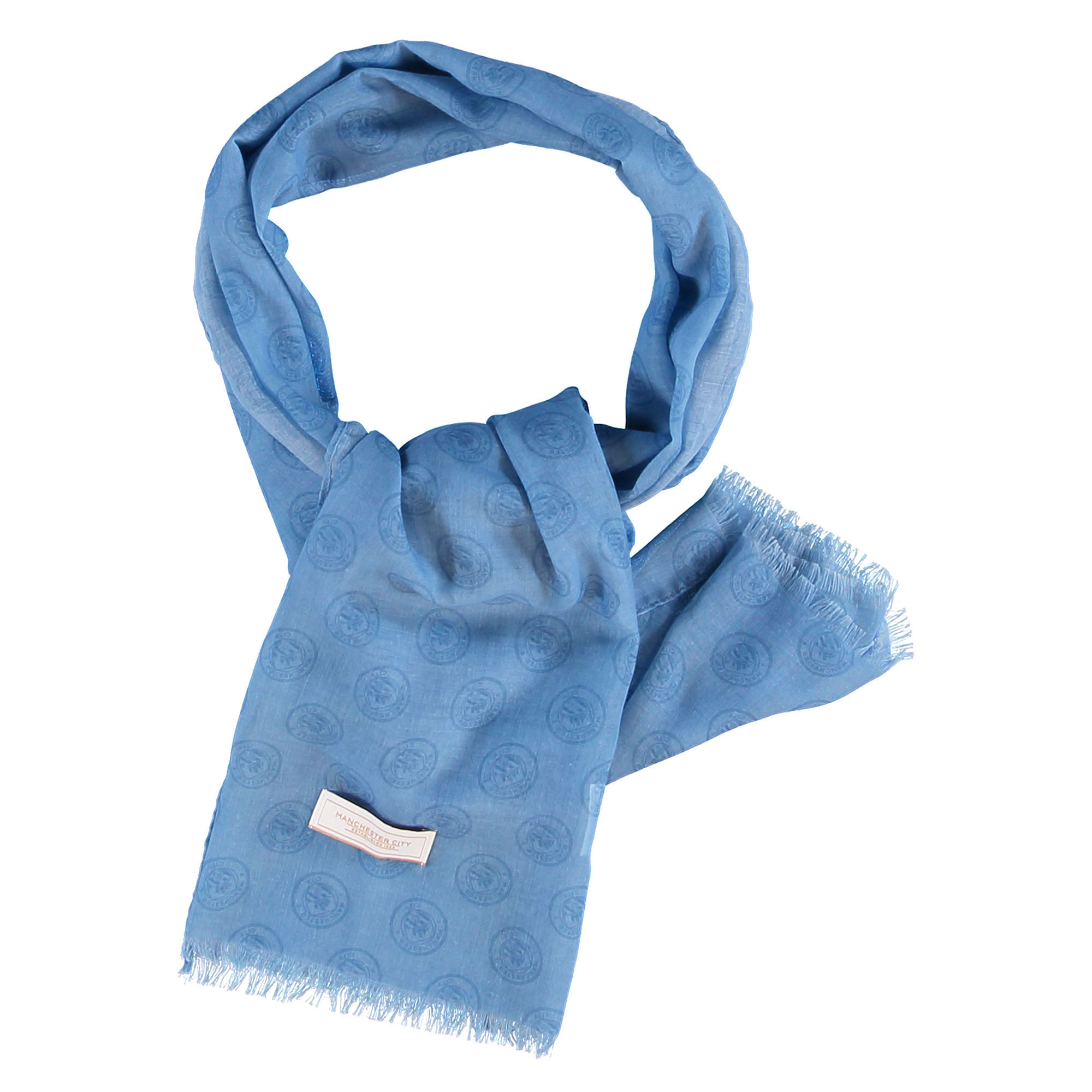 Manchester City Luxe Dress Scarf - Sky - Womens