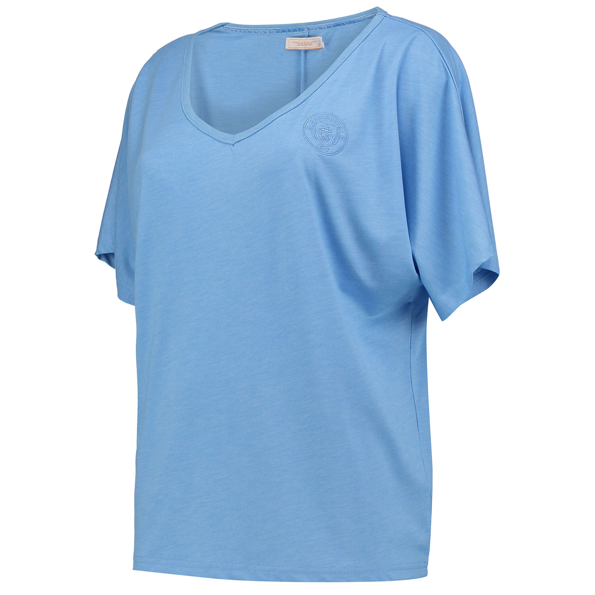 Manchester City Luxe V T-Shirt - Sky - Womens