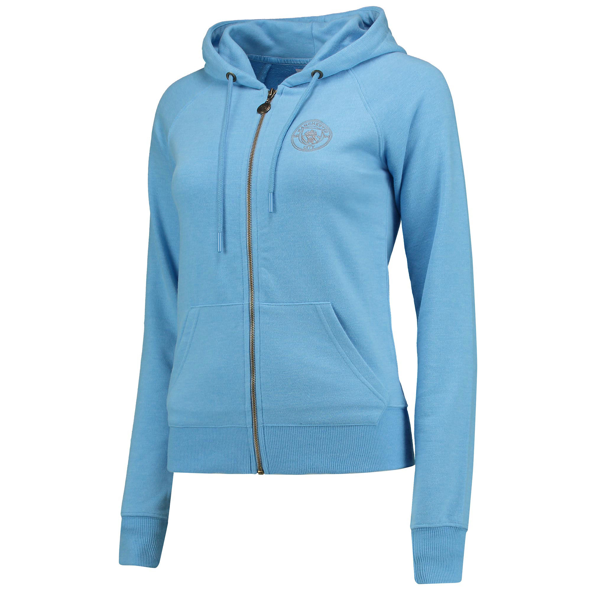 Manchester City Luxe Hoodie- Sky - Womens