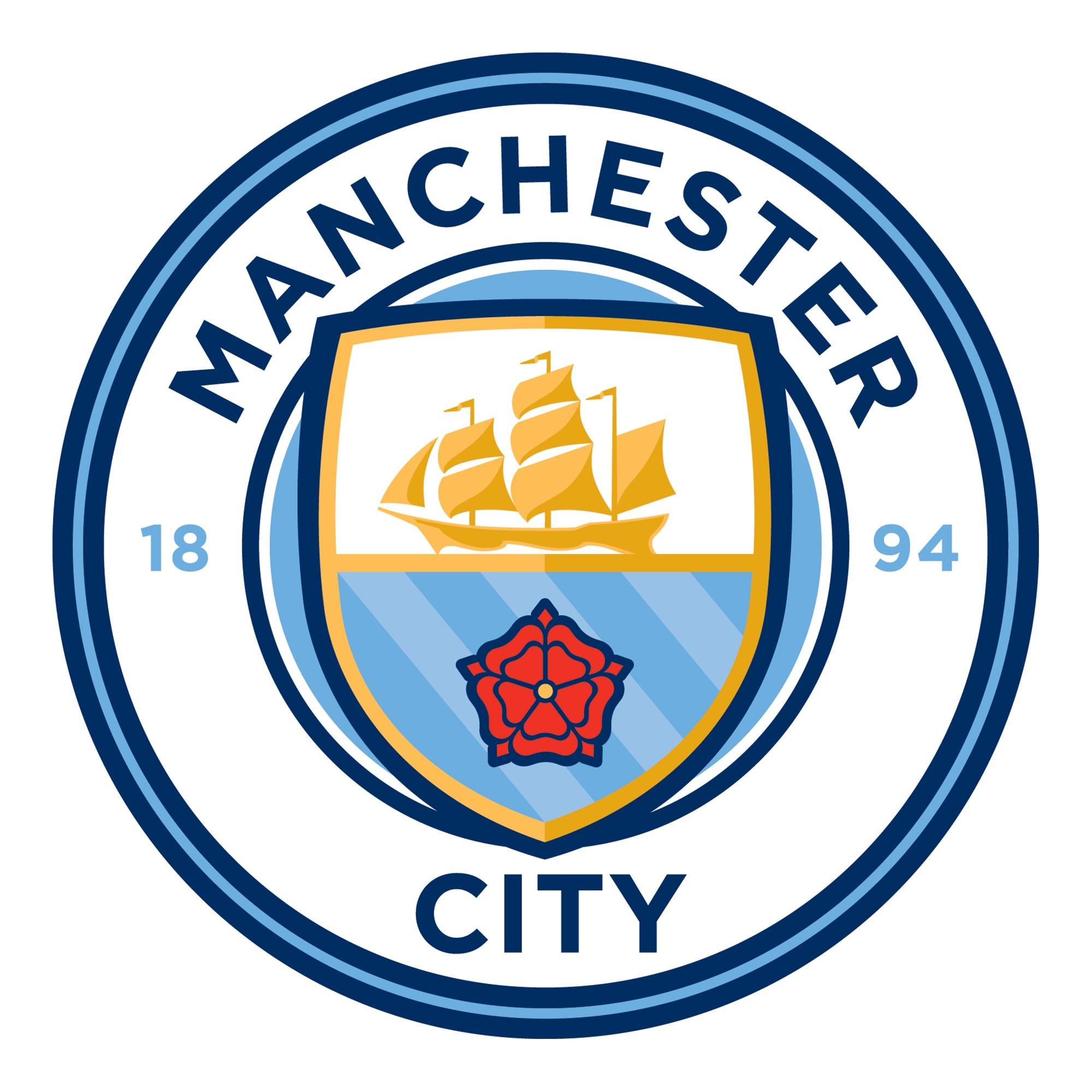 Manchester City Crest Wall Sticker - 60 x 60cm