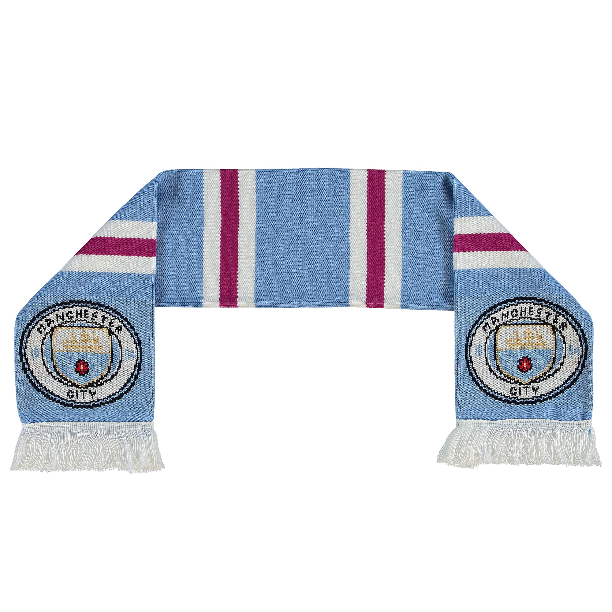 Manchester City Shader Scarf - Sky/Pink - Junior