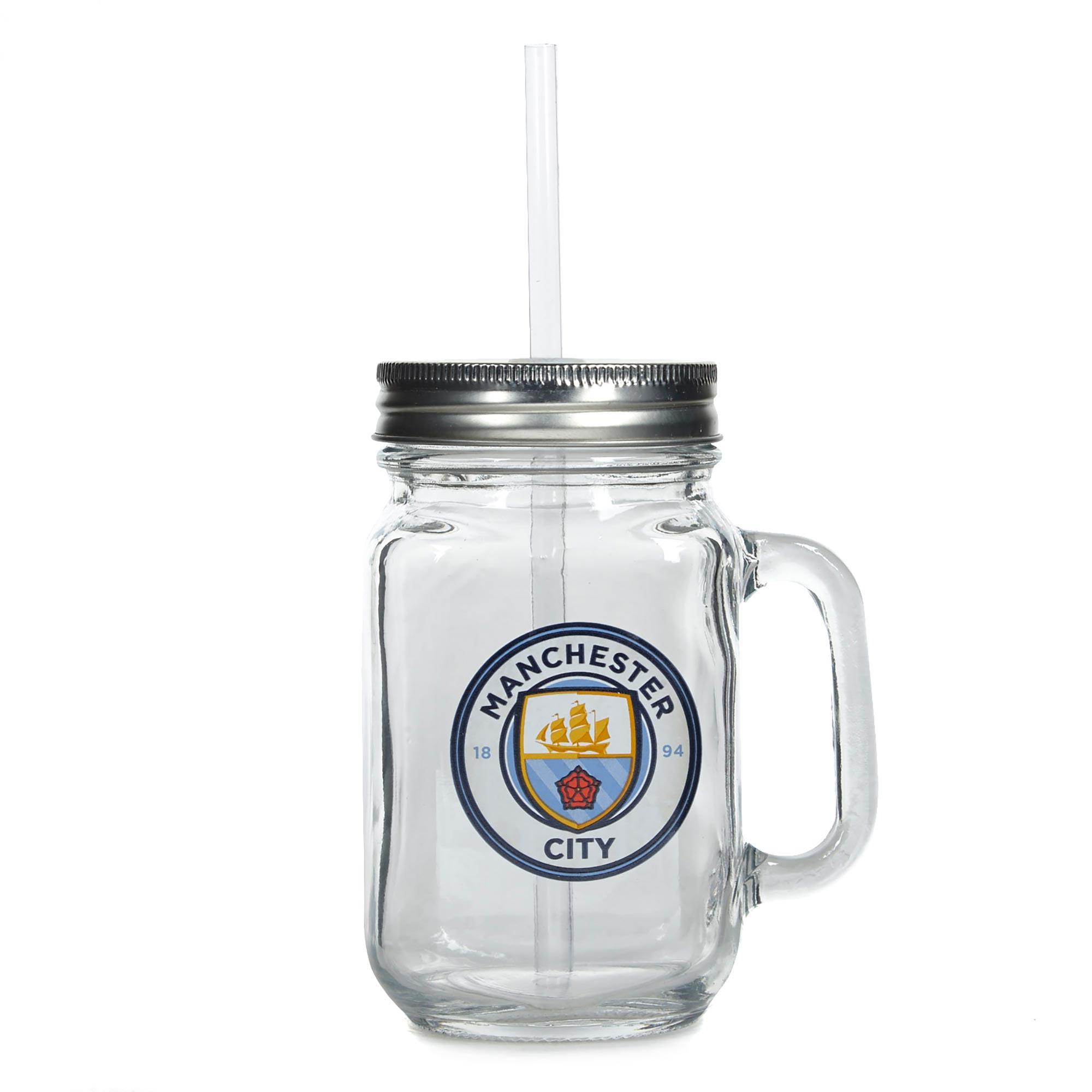Manchester City Mason Jar