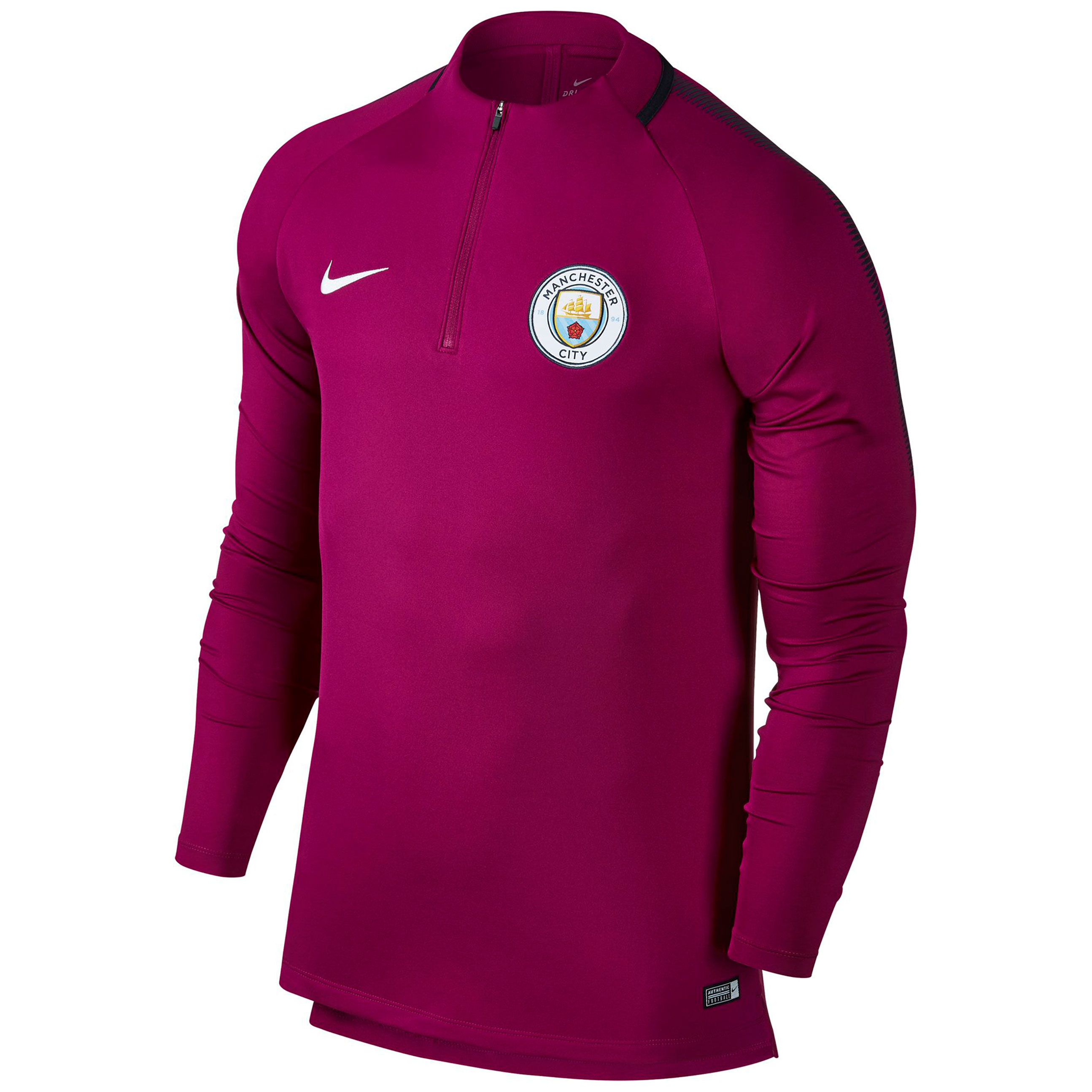 Manchester City Squad Drill Top - Maroon