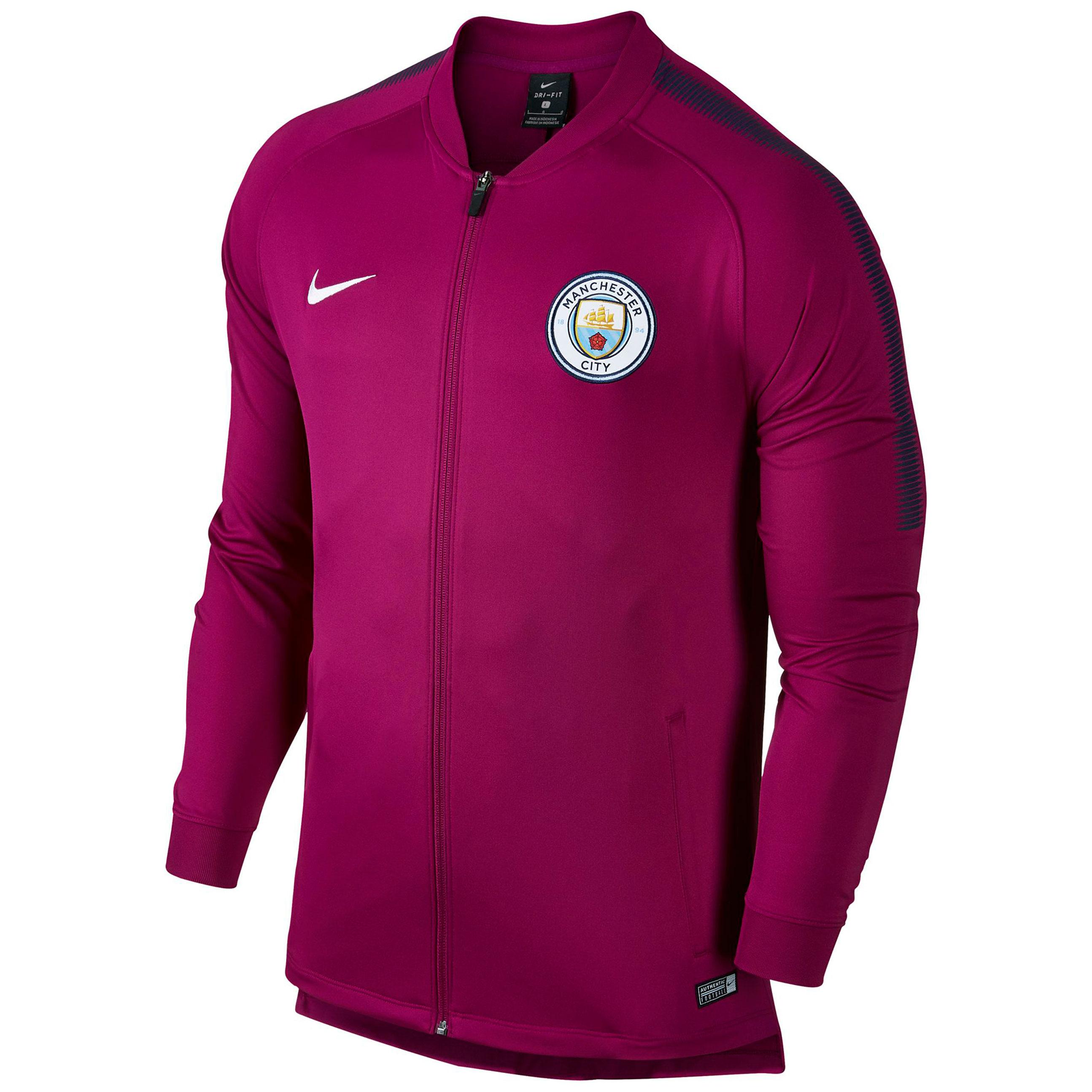 Manchester City Squad Track Jacket - Maroon