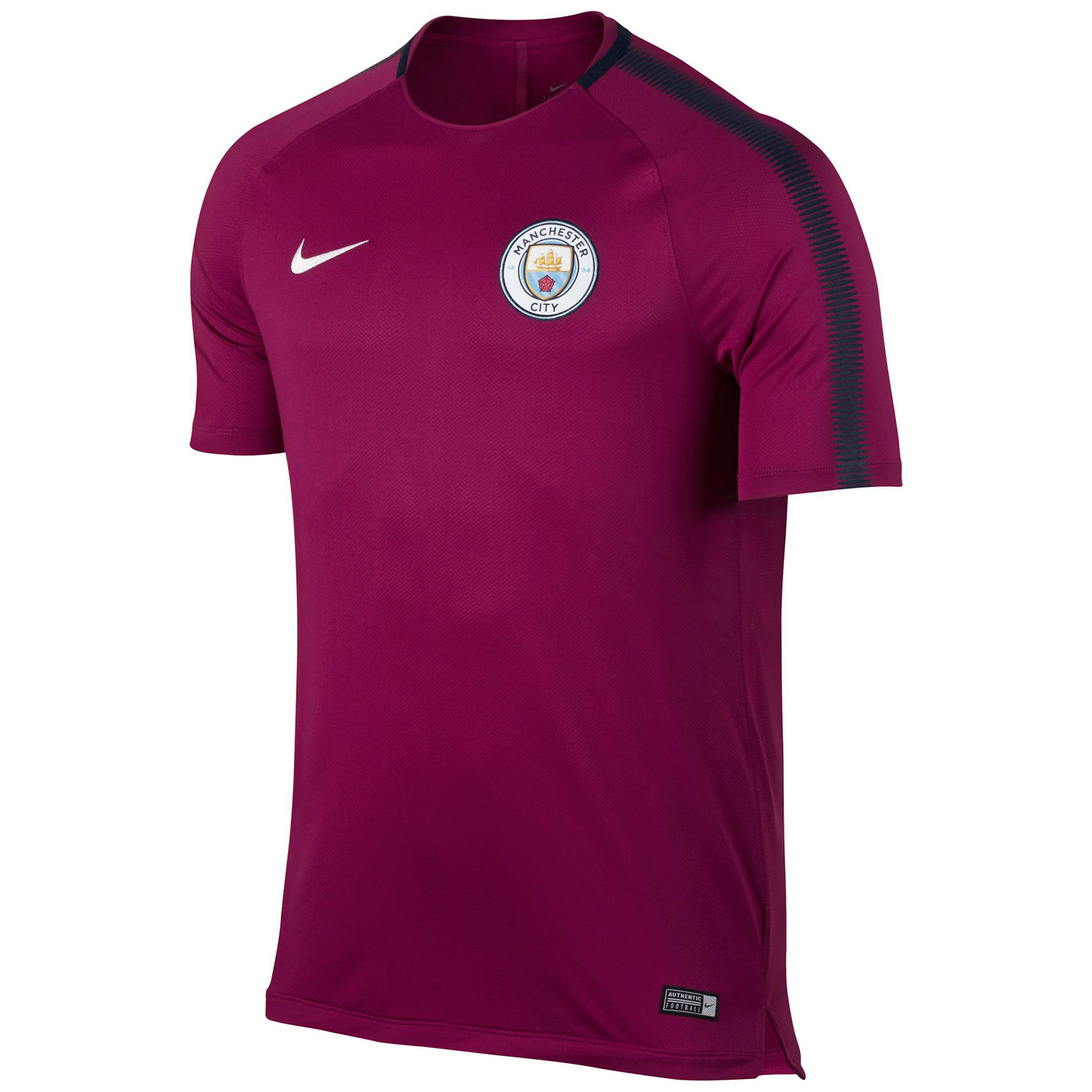 Manchester City Squad Training Top - Maroon - Kids