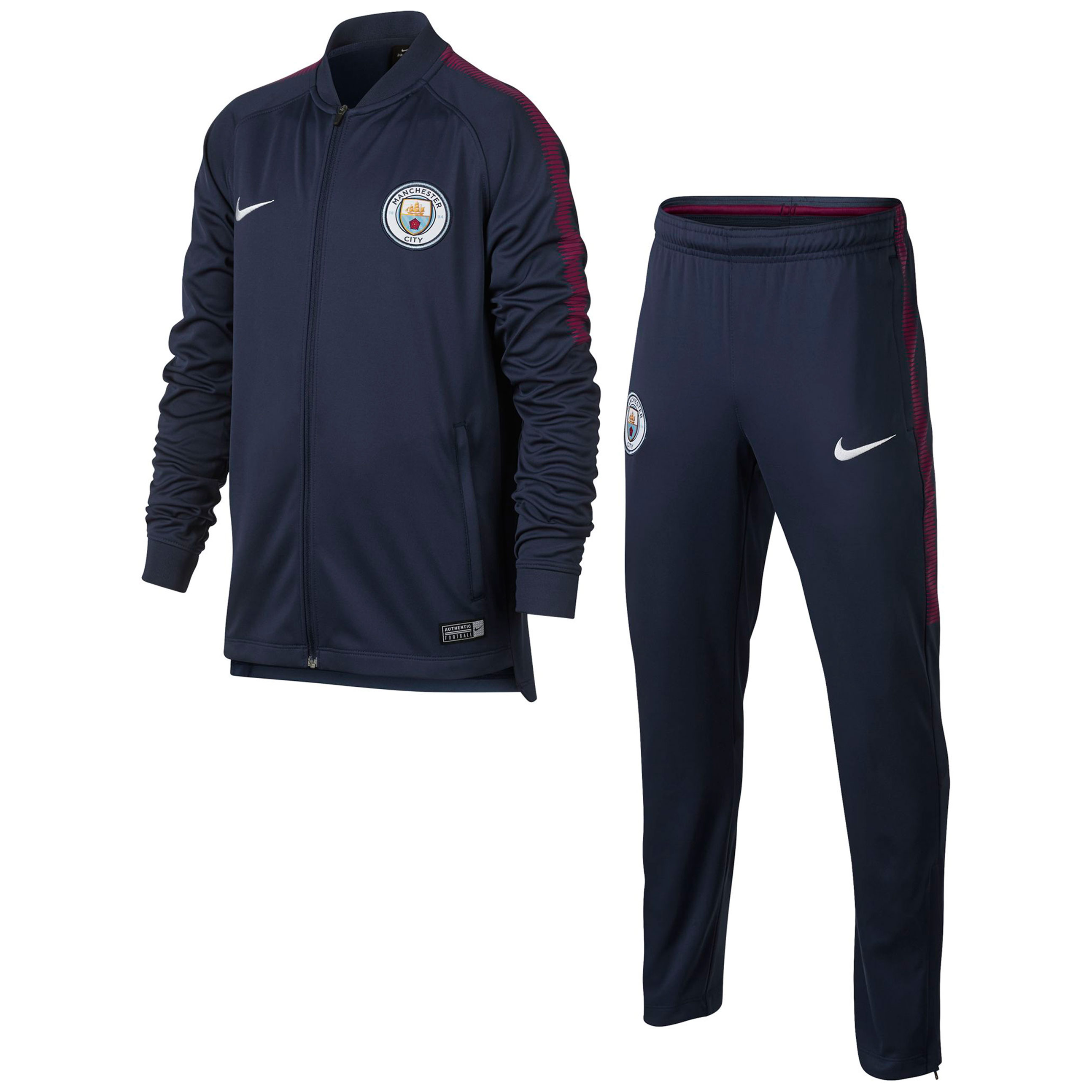 Manchester City Squad Training Tracksuit - Navy - Kids