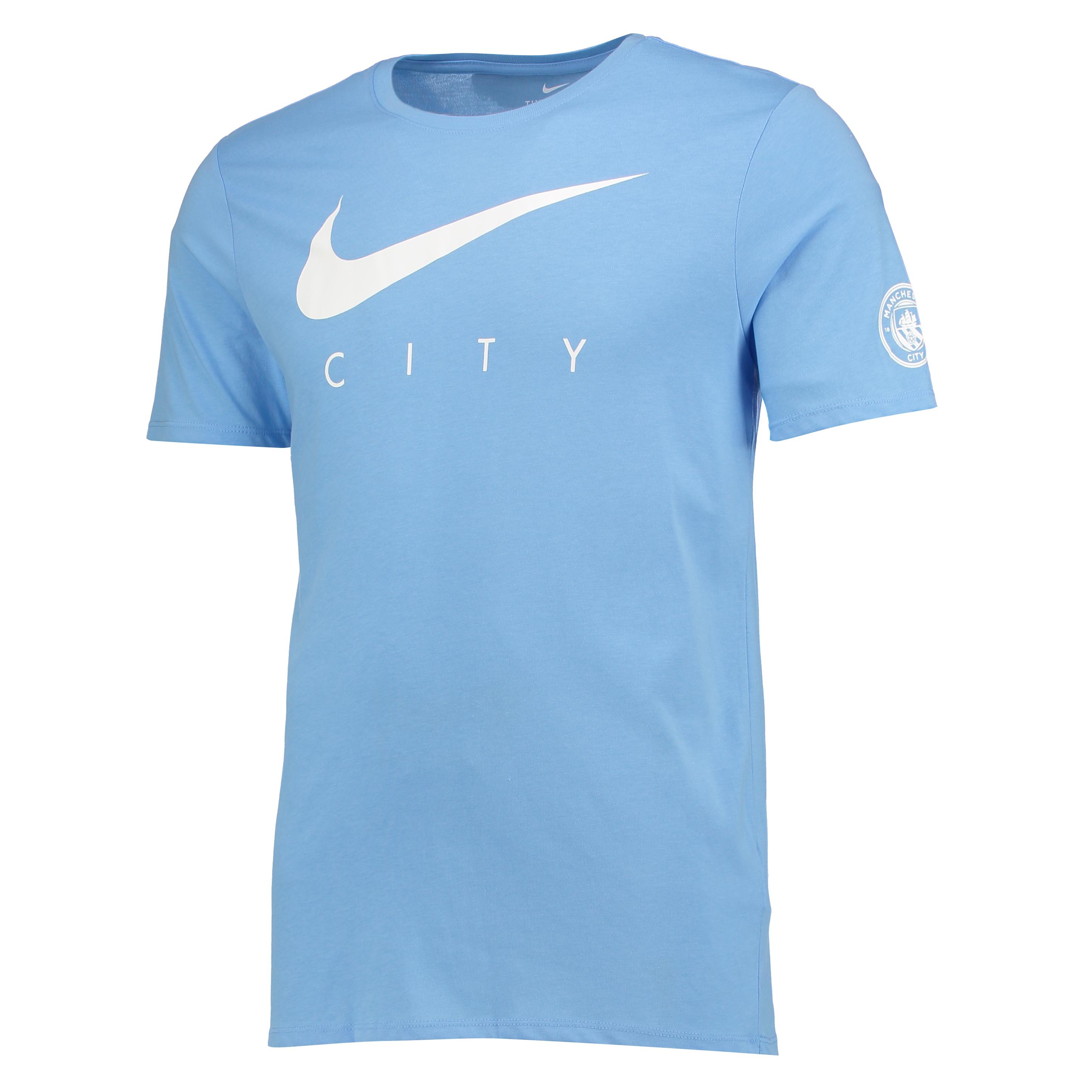 Manchester City Pre-Season T-Shirt - Light Blue