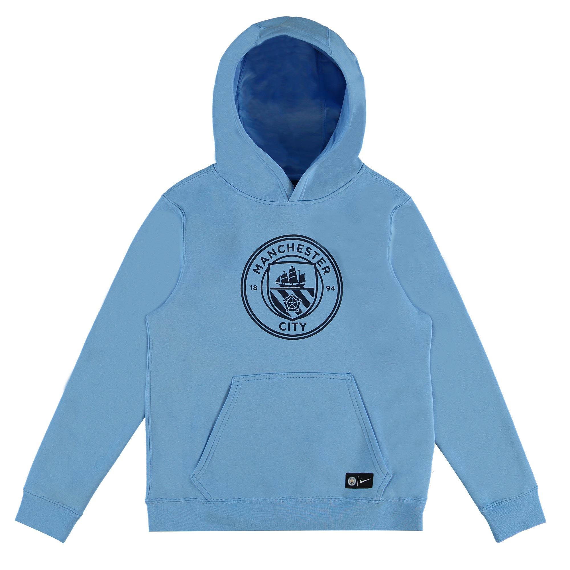 Manchester City Core Hoodie - Light Blue - Kids