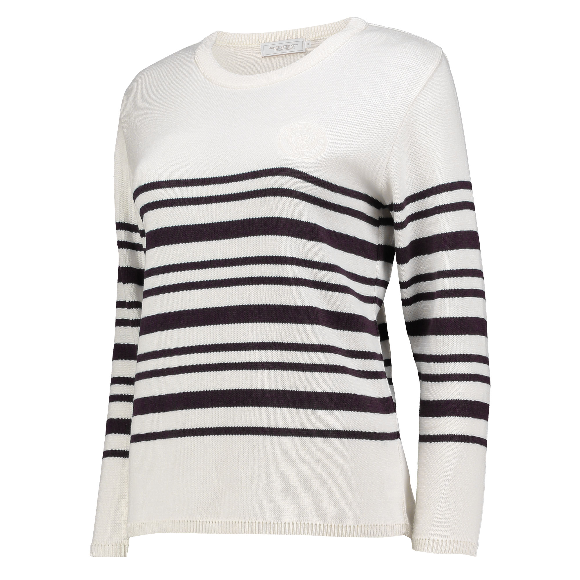 Manchester City Luxe Breton Top - White - Womens