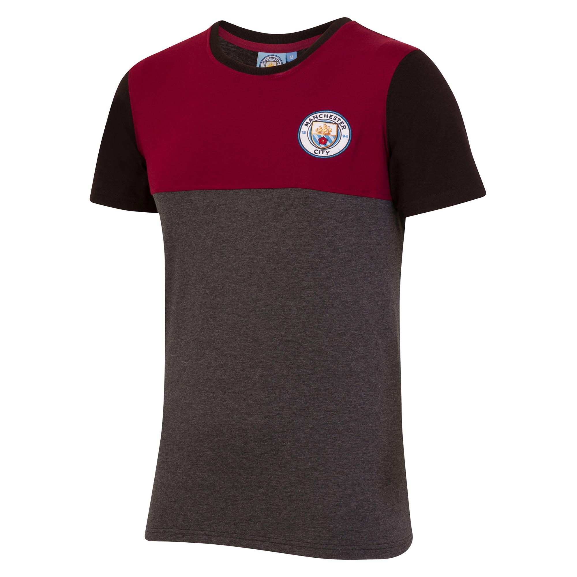 Camiseta Manchester City Classic Block - Gris oscuro jaspeado