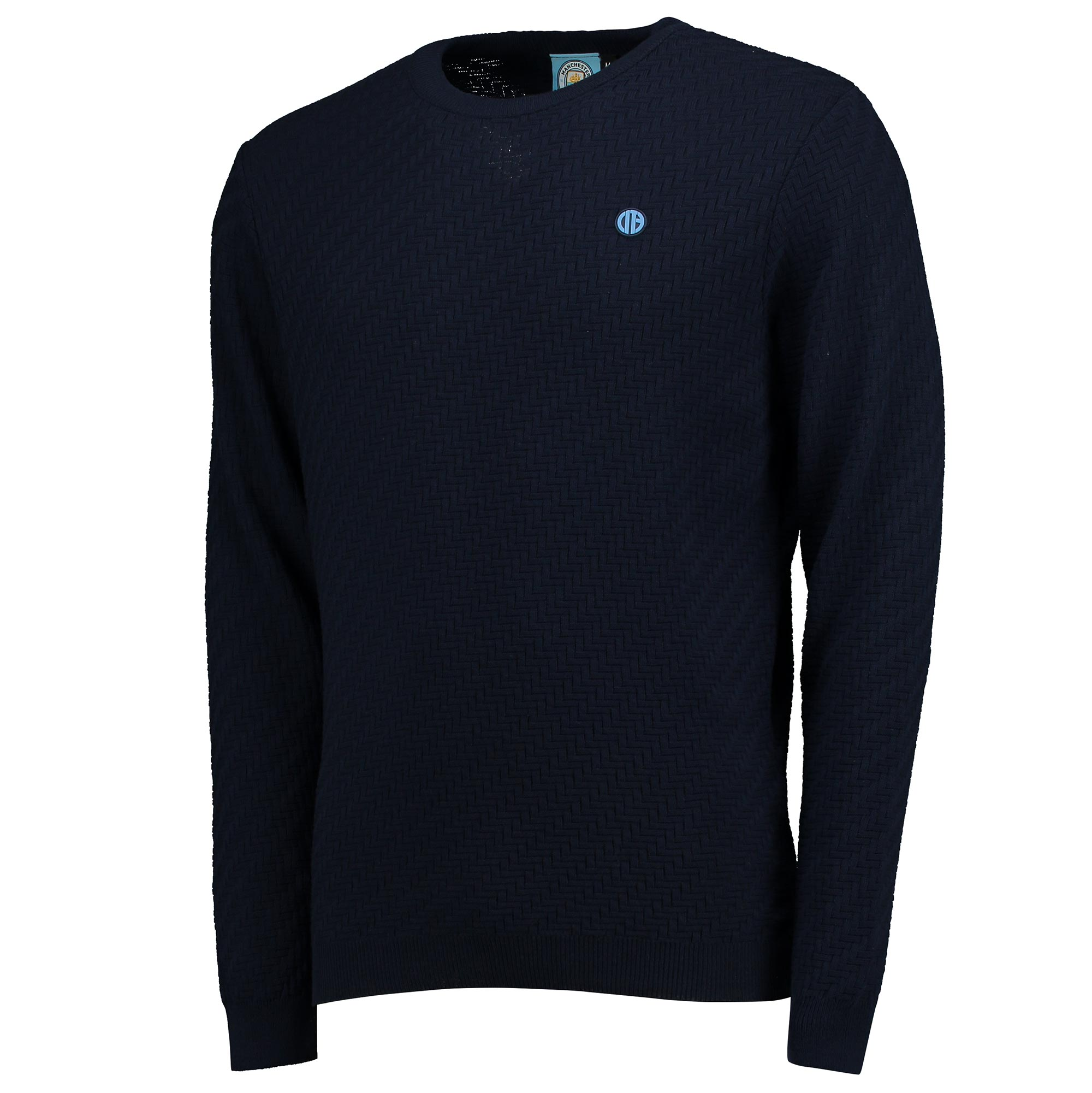 Manchester City Terrace Pattern Knit - Navy