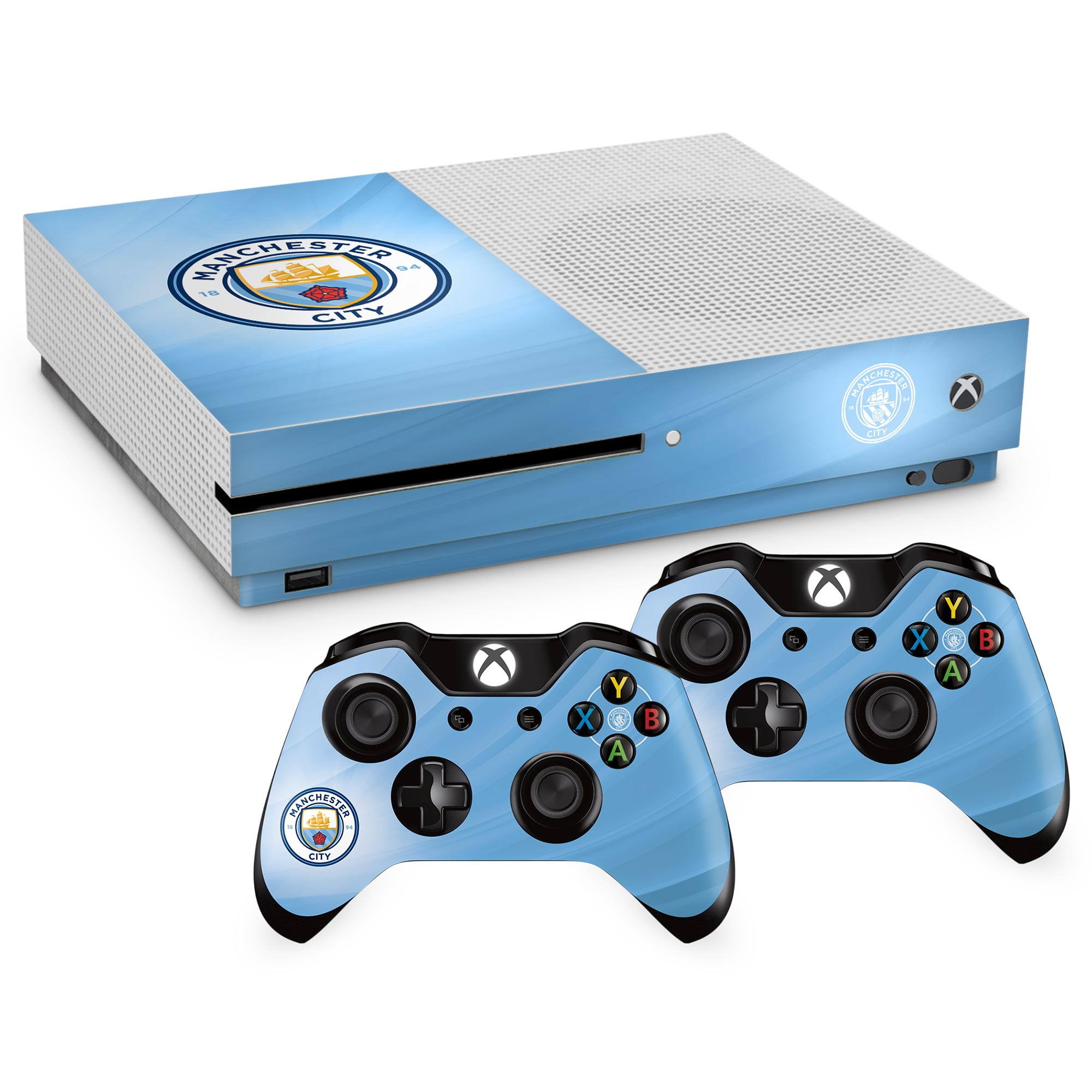 Manchester City Controller and Console Skin - Xbox One S