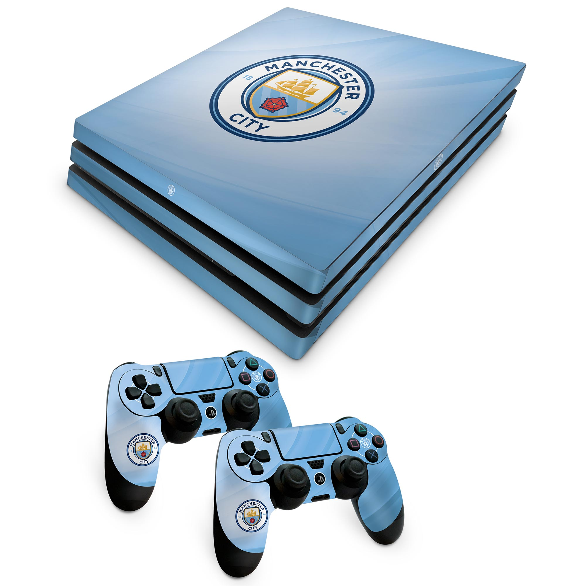 Manchester City Console and Controller Skin - PS4 Pro